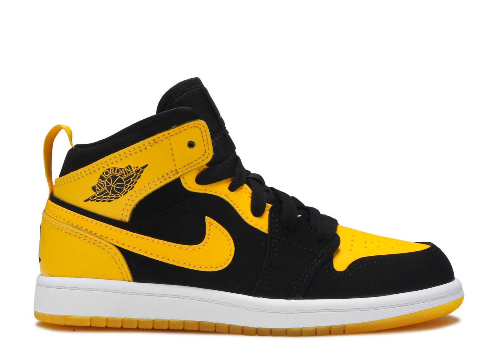 aece9b59ca59 Jordan 1 Mid Bp - Nike - 640734 035 - black varsity maize-white ...