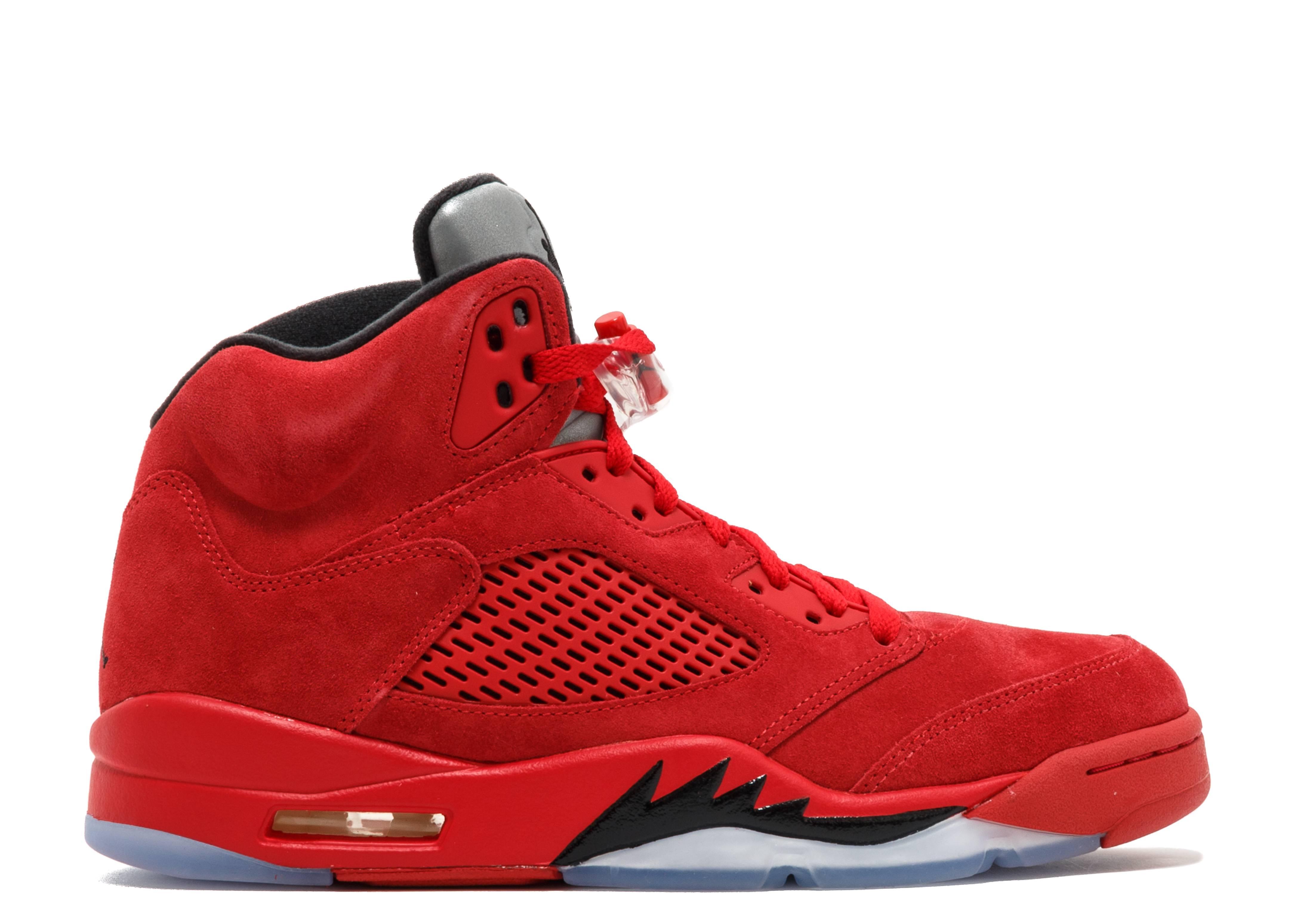 jordan retro 5 red and black