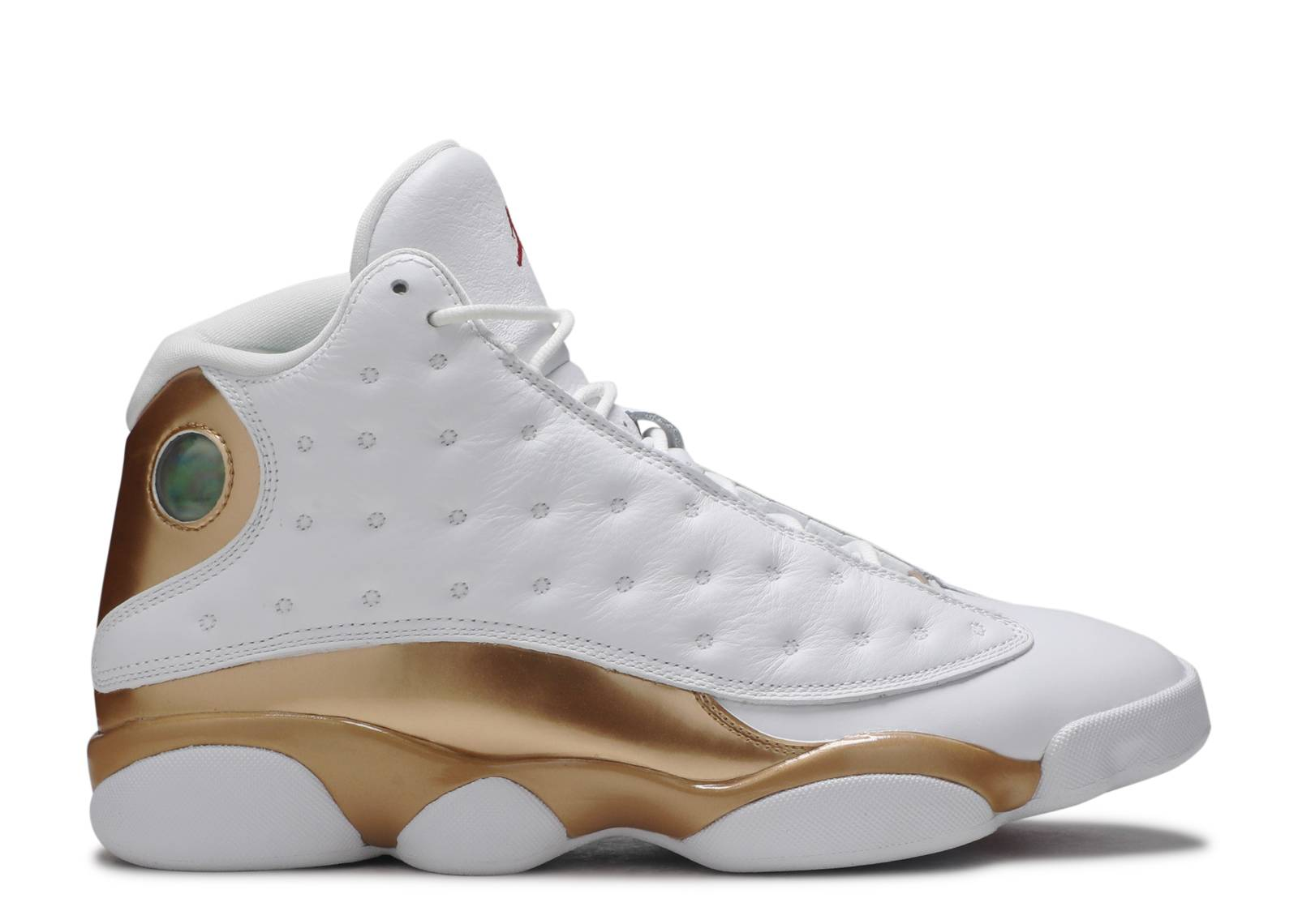 jordan retro 13 white gold