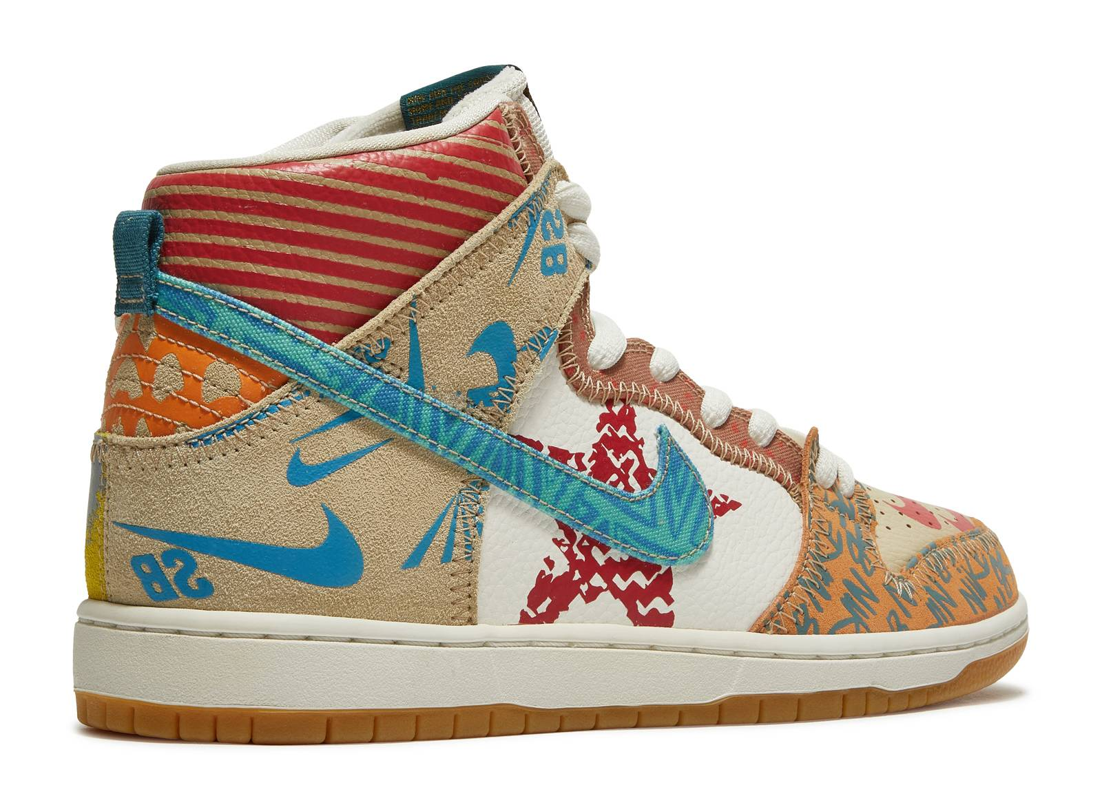 Nike Sb Zoom Dunk High Prem 'What The' - 918321-381 - Size 9 - Us Size GDeIPrYPxV