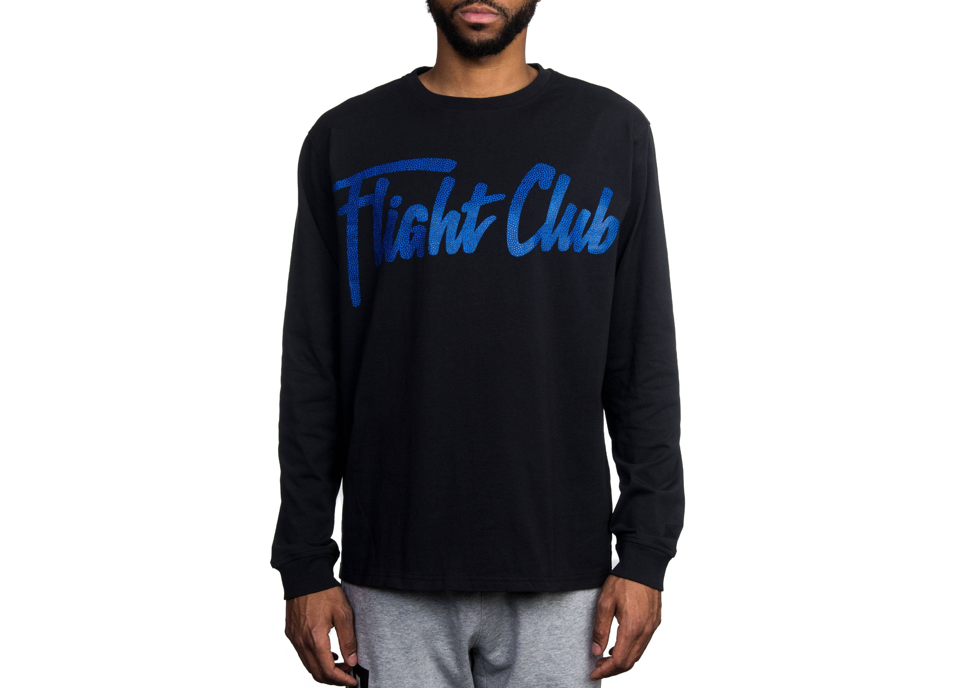 0ad49dade50c Script LS T-Shirt - Flight Club - FCT24 17 - black royal basketball ...