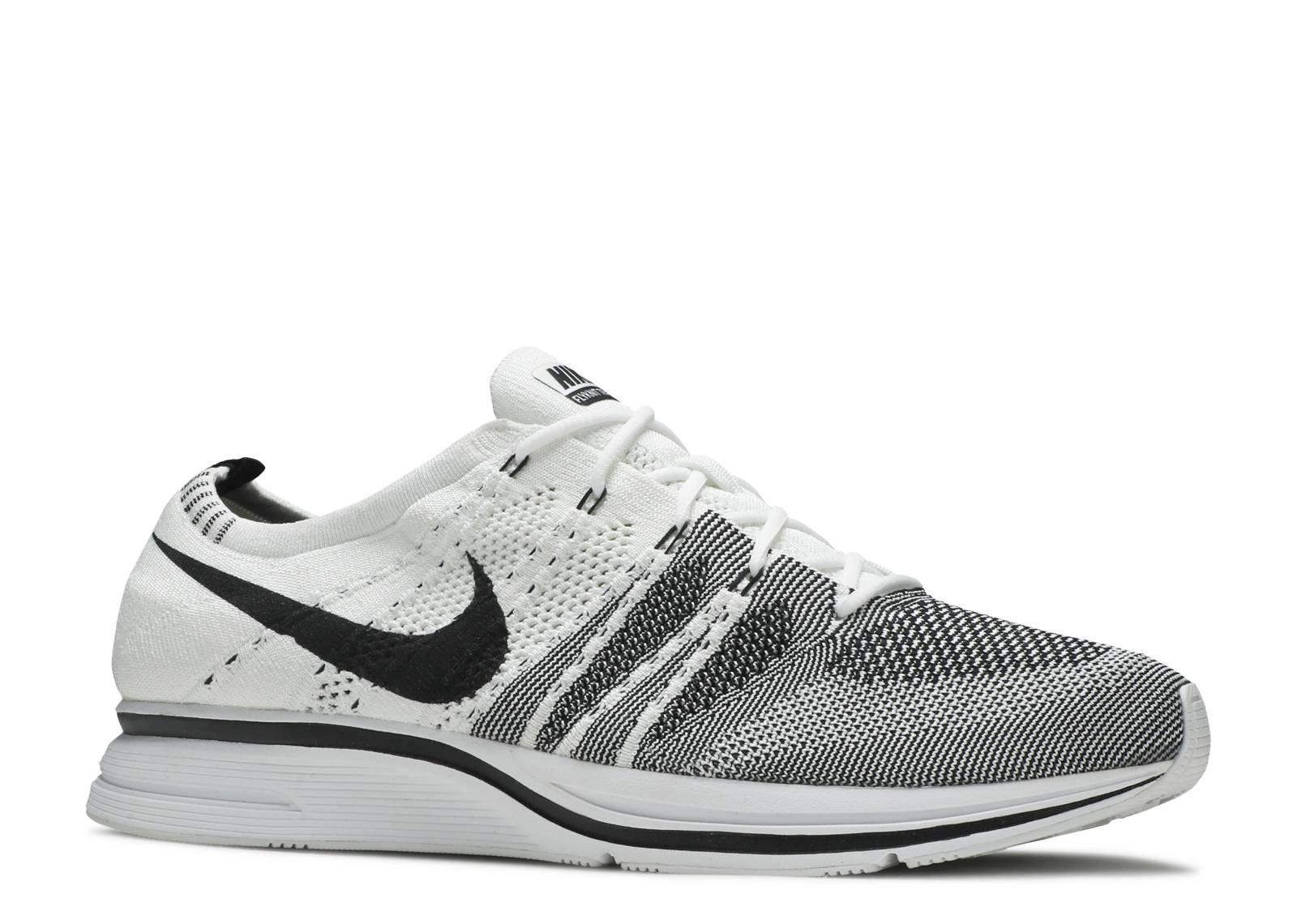 655c48291a5e Nike Flyknit Trainer - Nike - ah8396 100 - white black-white ...
