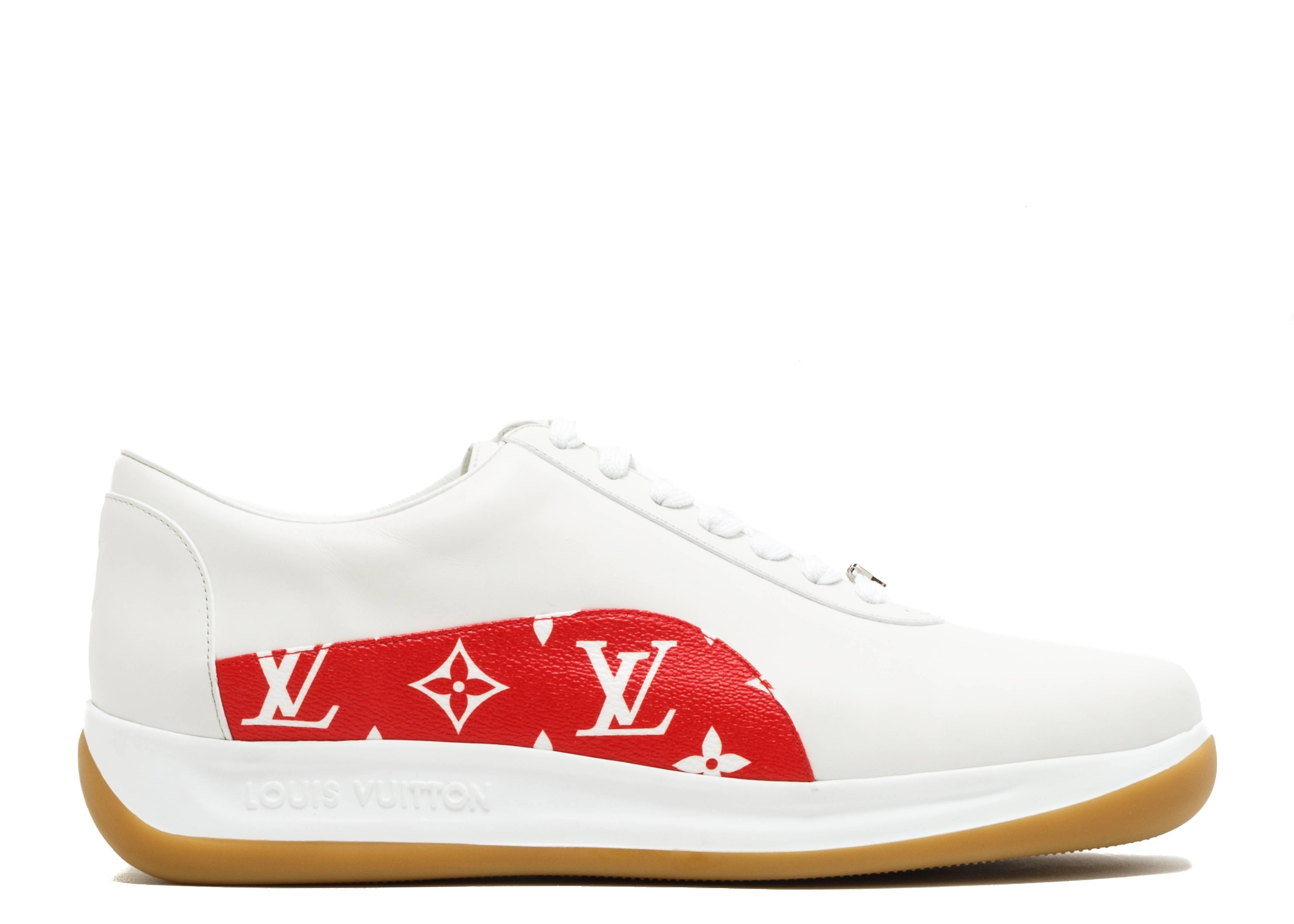 Supreme X Louis Vuitton - Louis Vuitton - cl0167 - white red   Flight Club 9b707adc26b