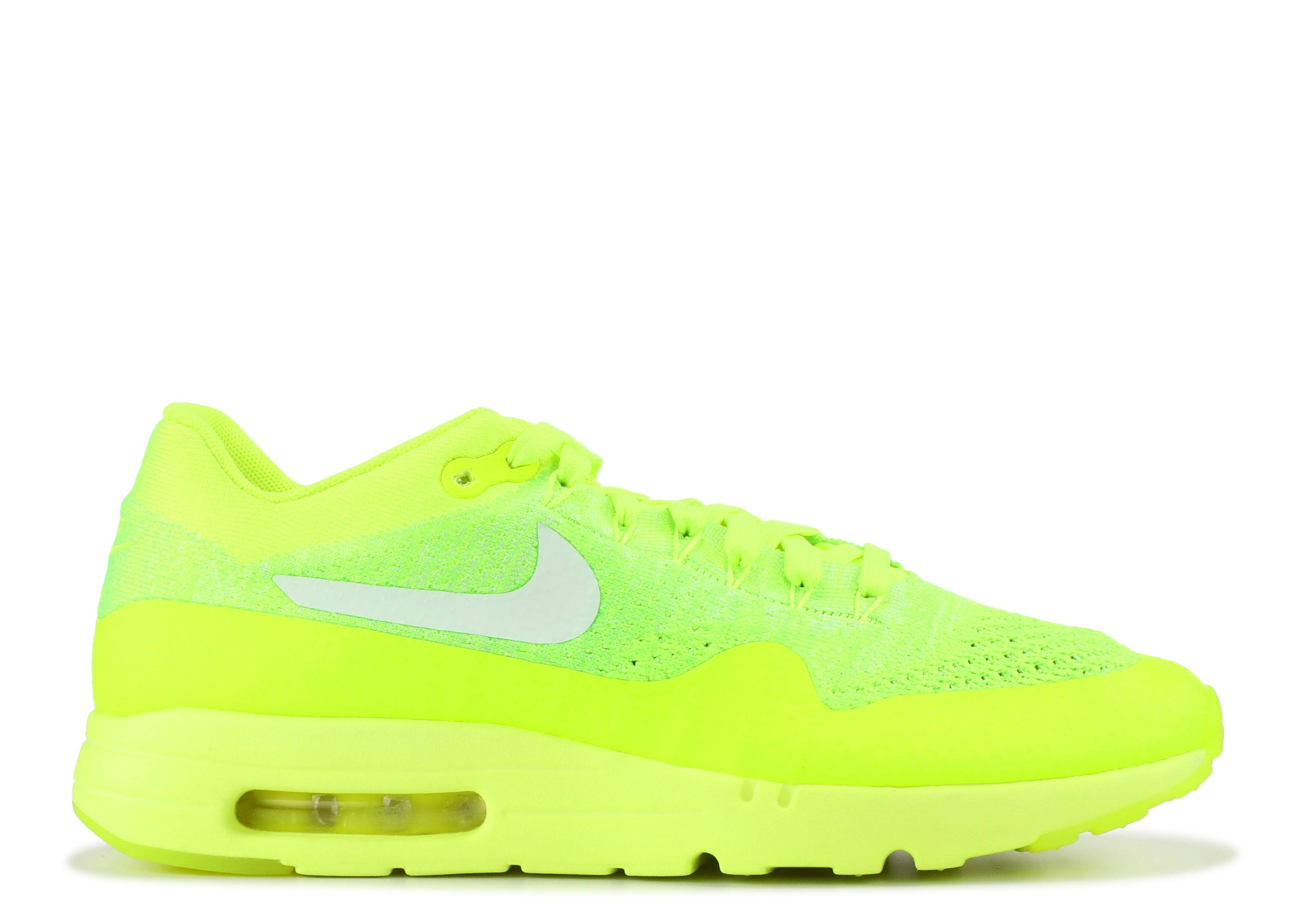 NIKE AIR MAX 1 Ultra Flyknit volt Electric green 843384 701