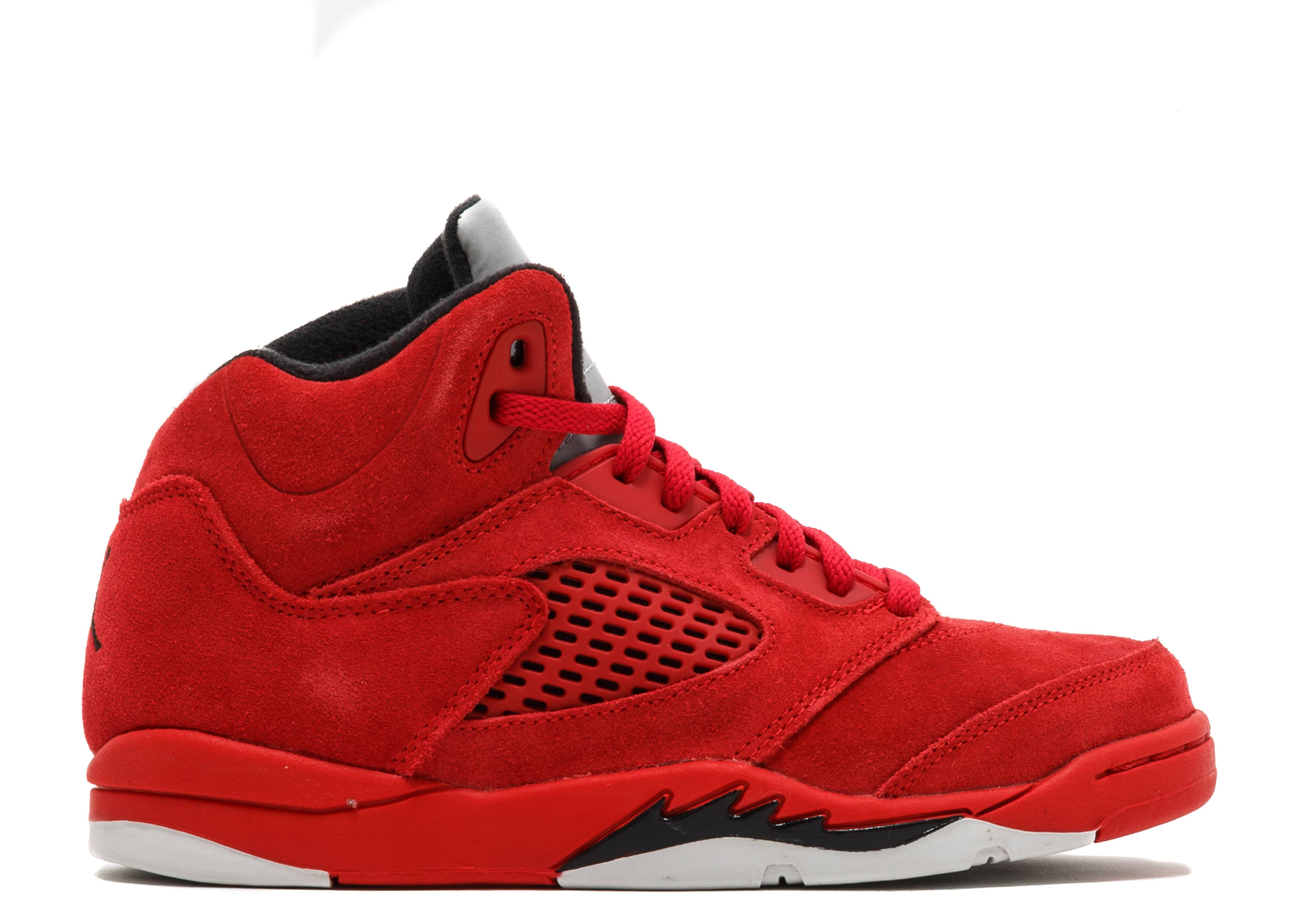 "jordan 5 retro bp ""red suede"""