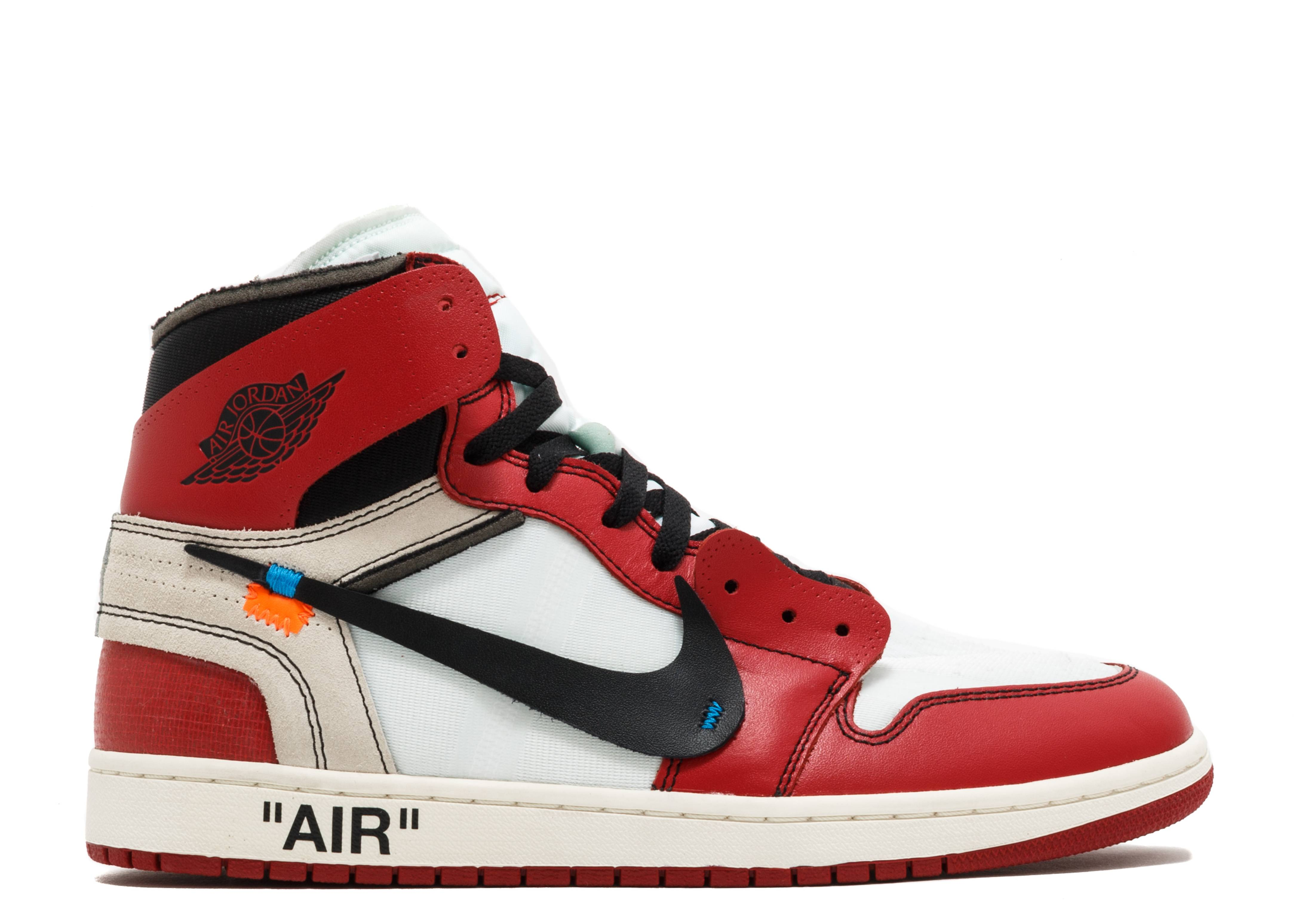 "the 10: air jordan 1 ""off-white"""