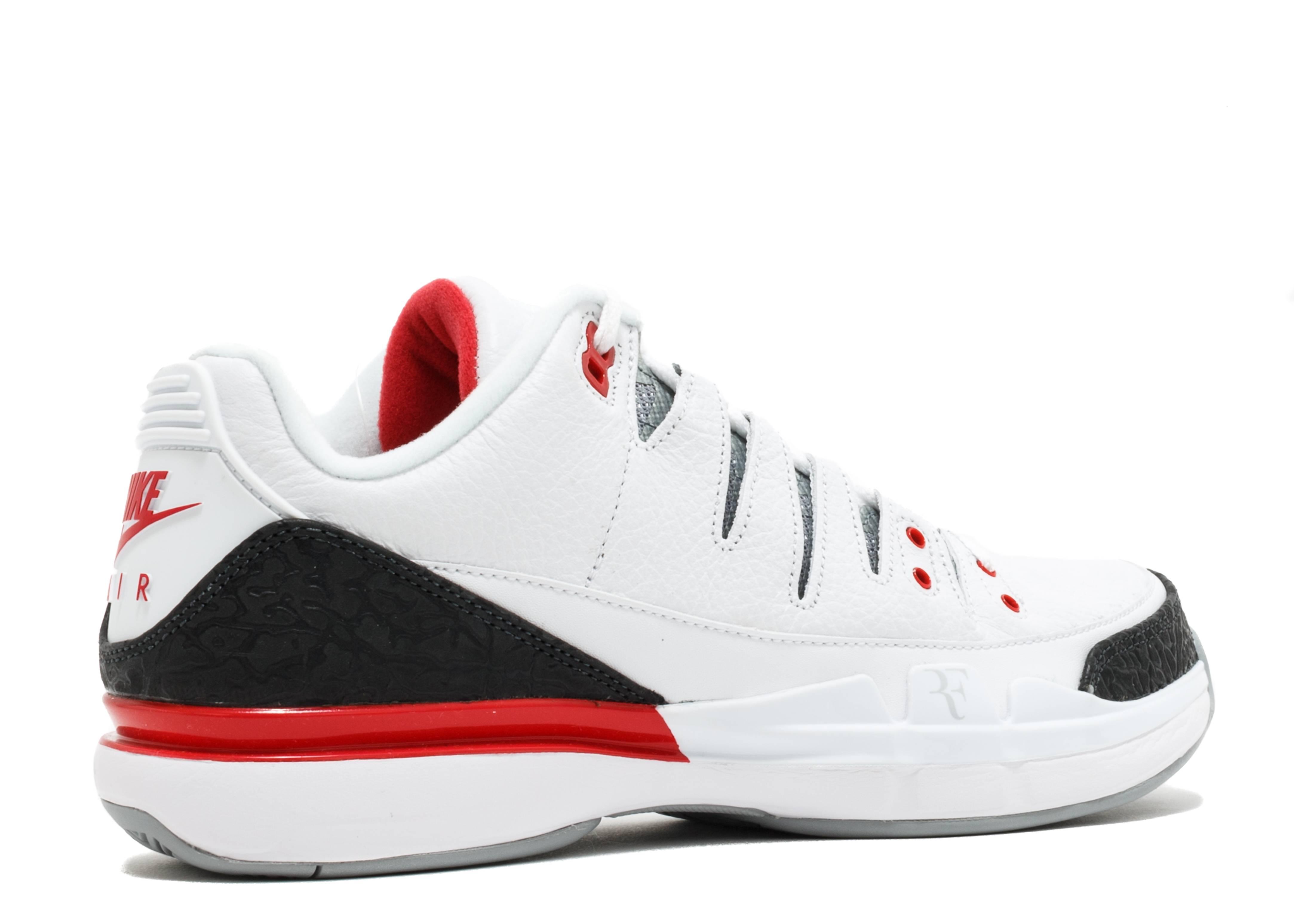 Zoom Vapor Aj3 - Nike - 709998 106 - white fire red- silver-black ... b9980dbe7