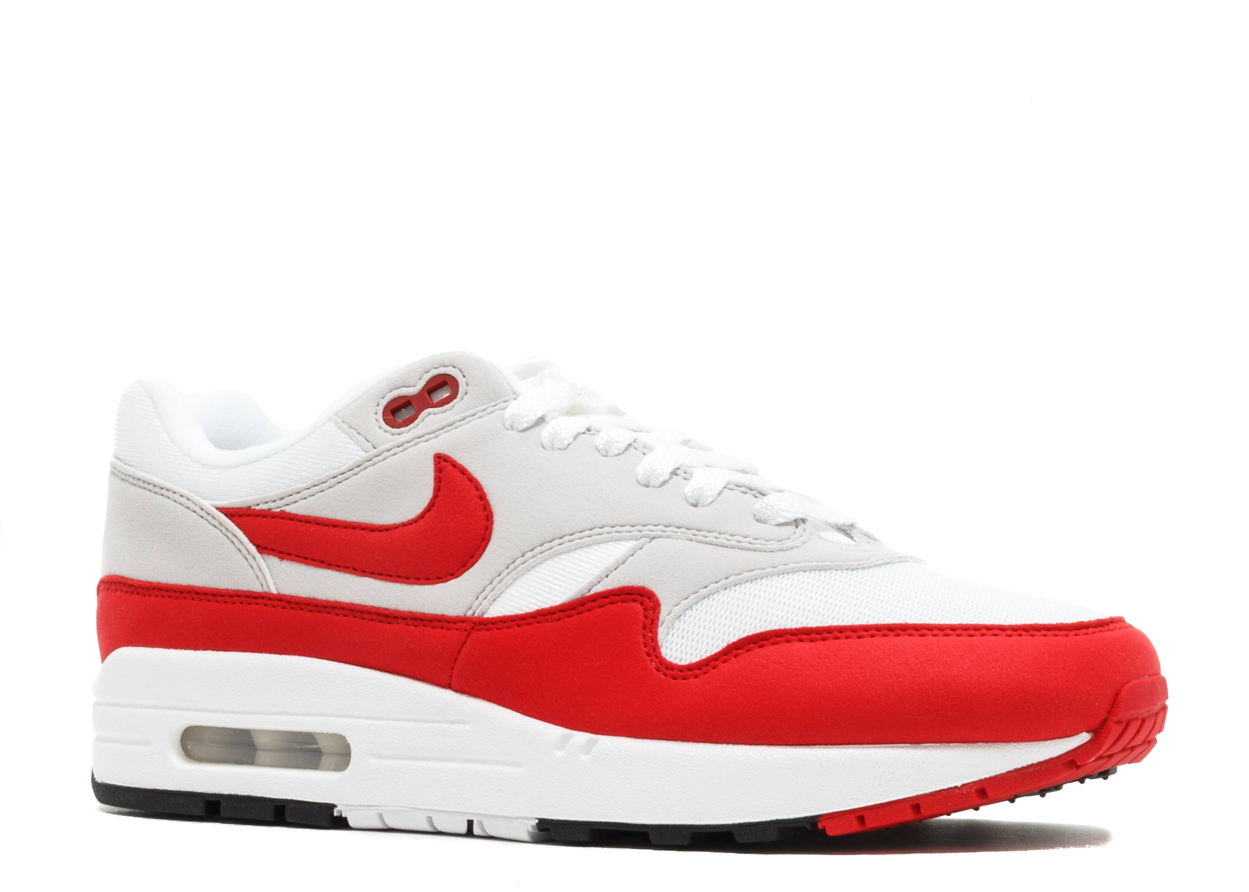 reputable site 0289f 43a6c Nike Air Max 1 Anniversary - Nike - 908375 103 - white university red    Flight Club