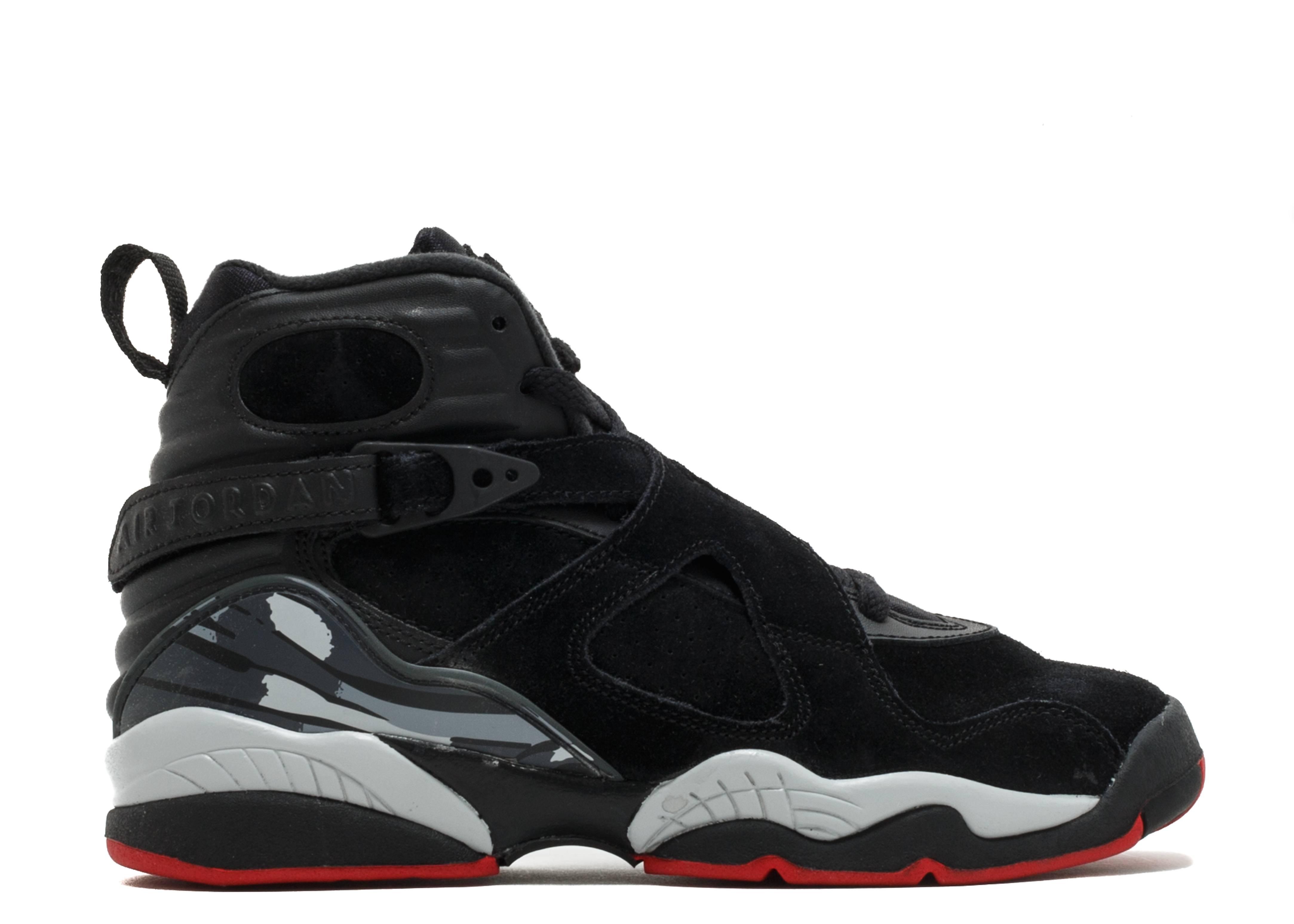buy popular 9d975 b758c Air Jordan 8 Retro Bg (gs) - Air Jordan - 305368 022 - black/gym red ...