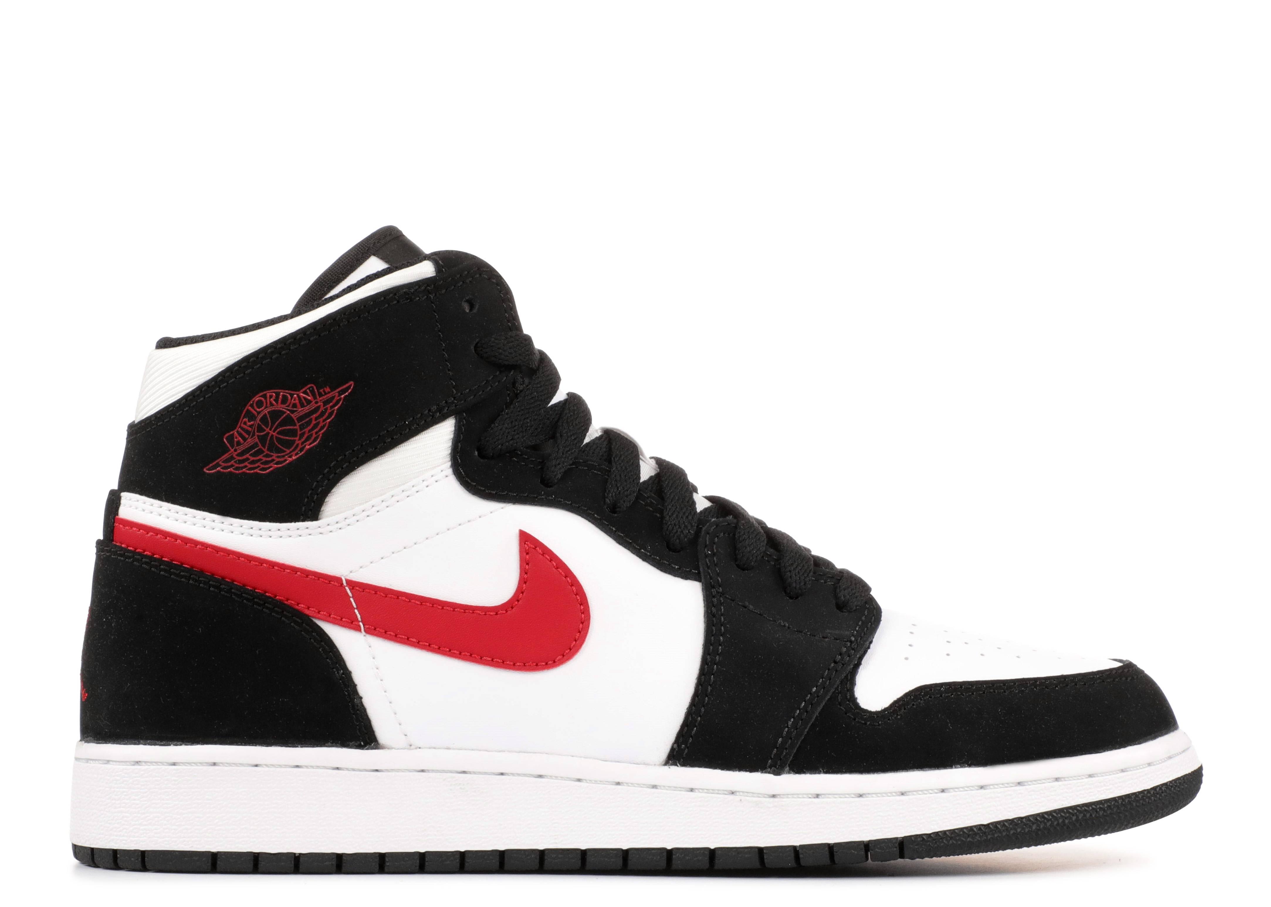 air jordan 1 white black red