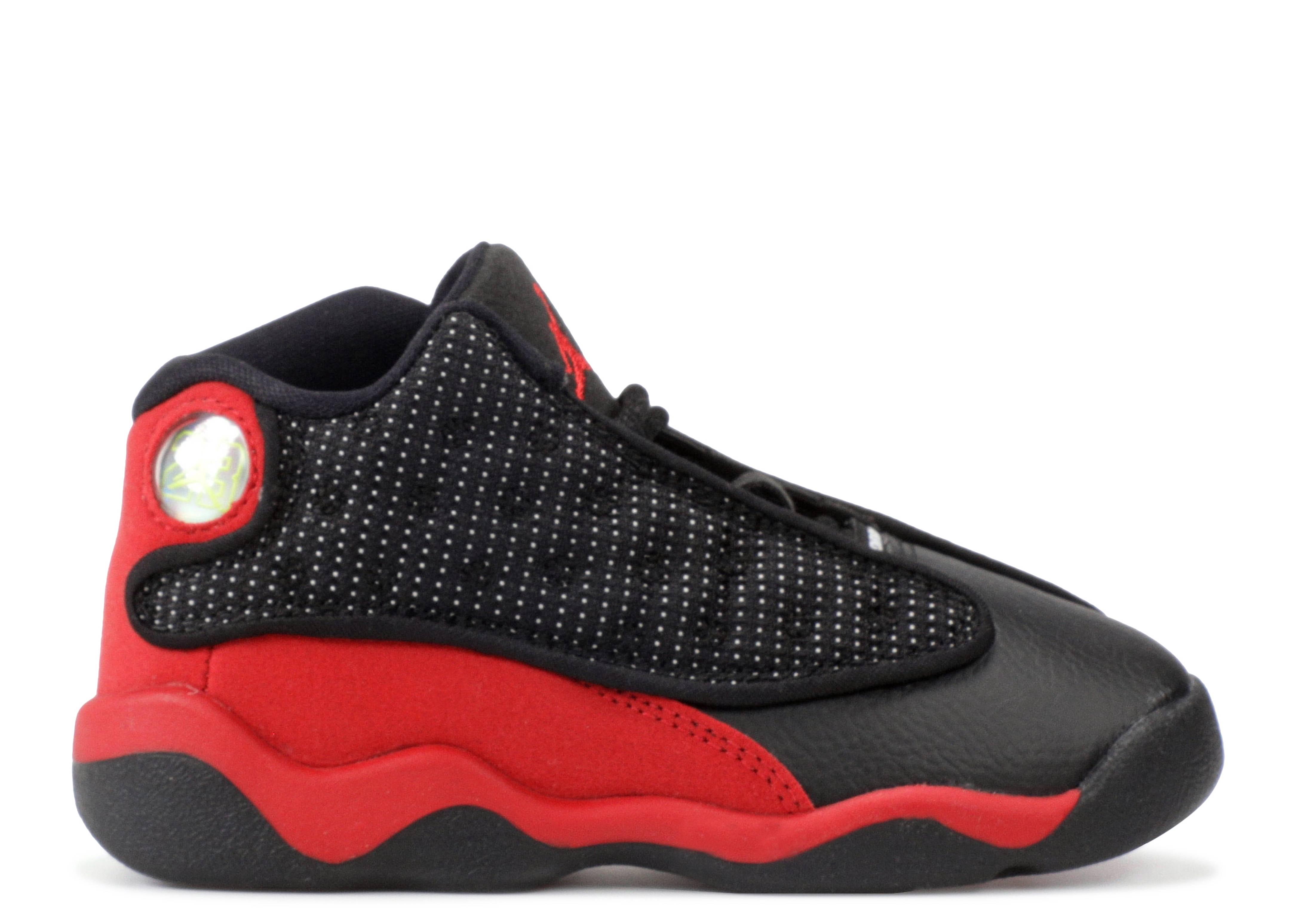 be685e6a34b38b Jordan 13 Retro Bt - Air Jordan - 414581 004 - black true red-white ...
