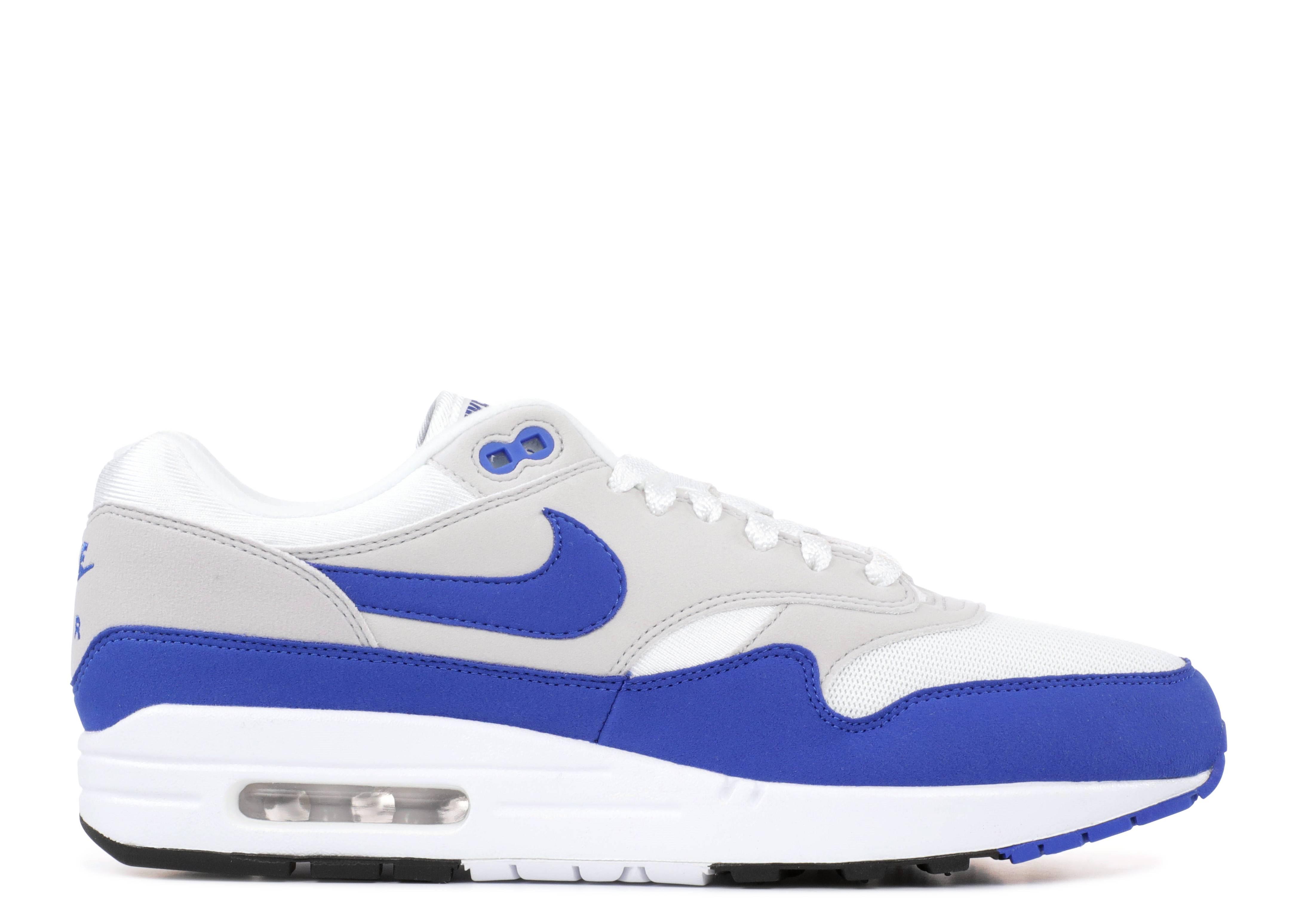 Nike Air Max 1 Mens – Air Max 1 Anniversary WhiteGame Royal Neutral Grey