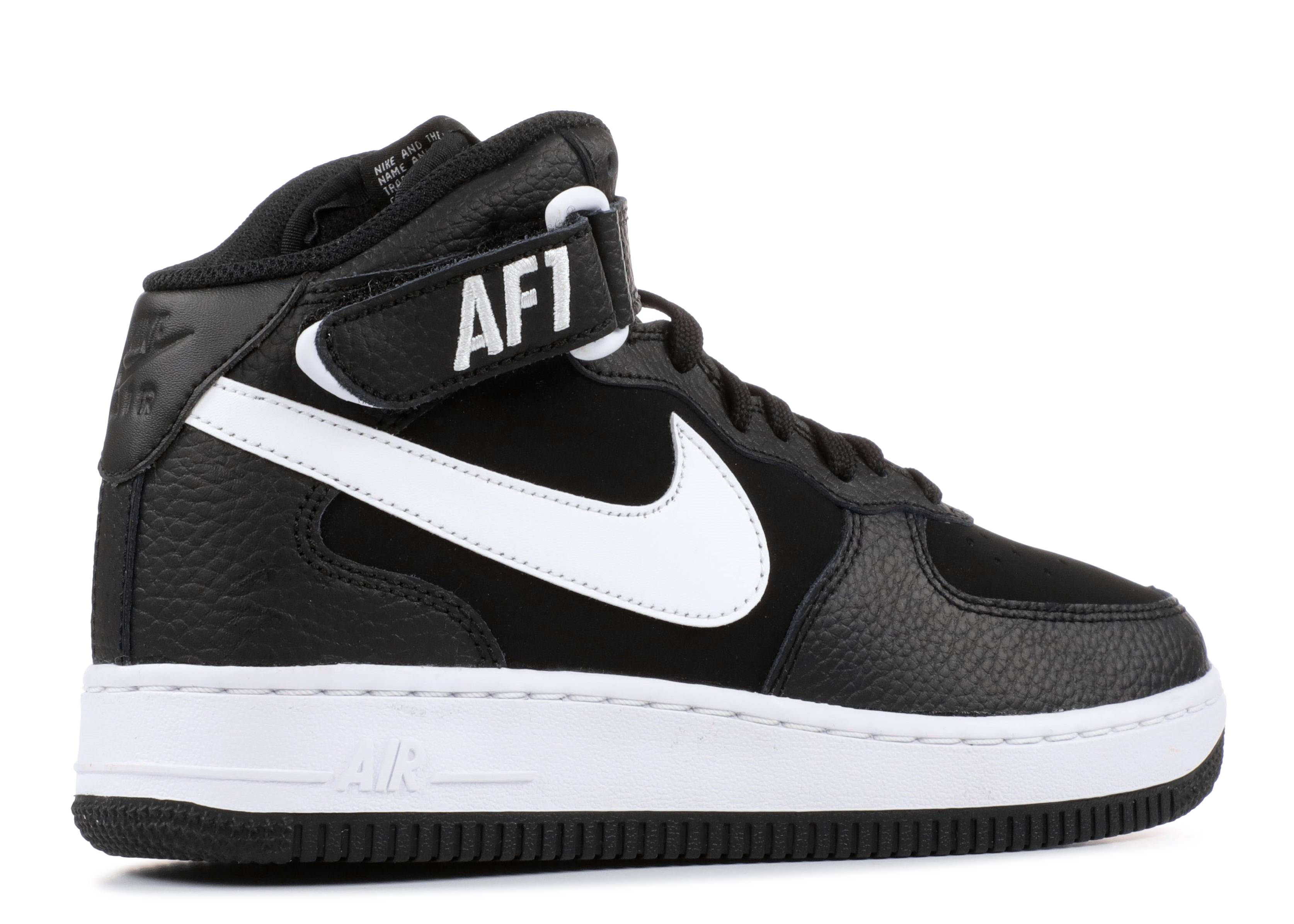 cheap for discount 1db2f 02b22 Air Force 1 Mid (gs) - Nike - 314195 038 - black white   Flight Club