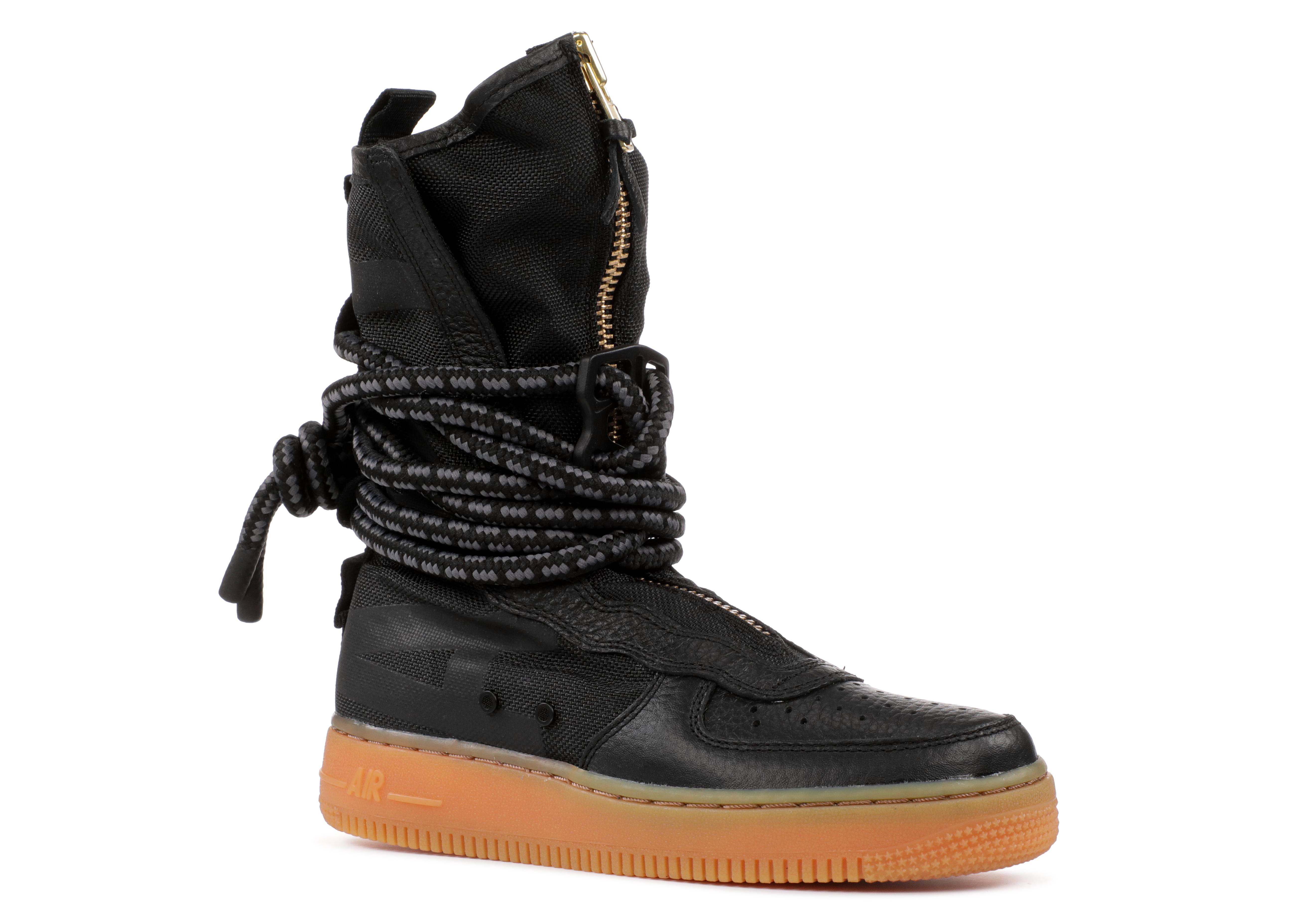 Wmns Sf Air Force 1 High Black Gum Nike Aa3965 001 Black Gum Medium Brown Flight Club