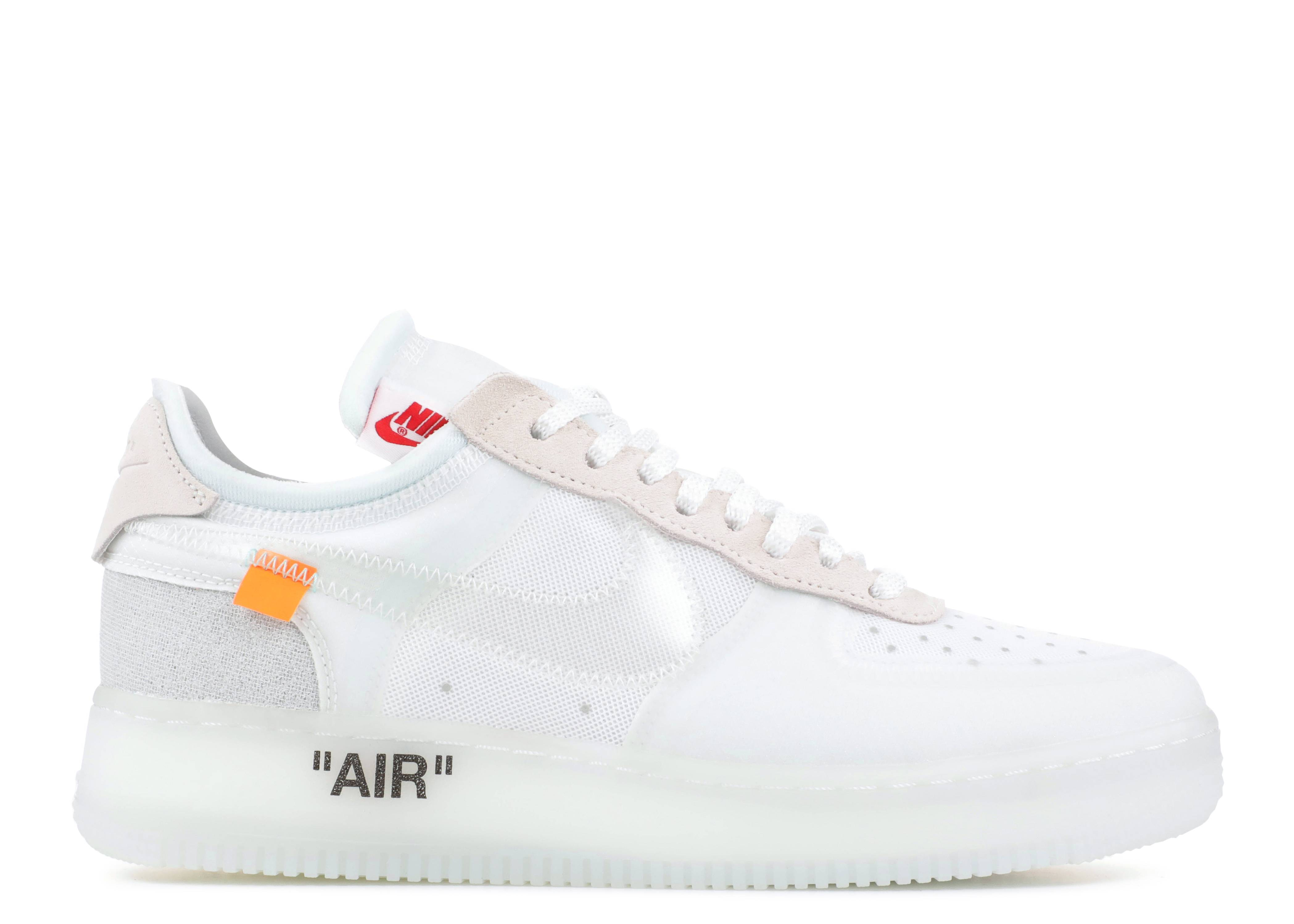 Ligero colección Samuel  Off White X Air Force 1 Low 'The Ten' - Nike - AO4606 100 -  white/white-sail | Flight Club