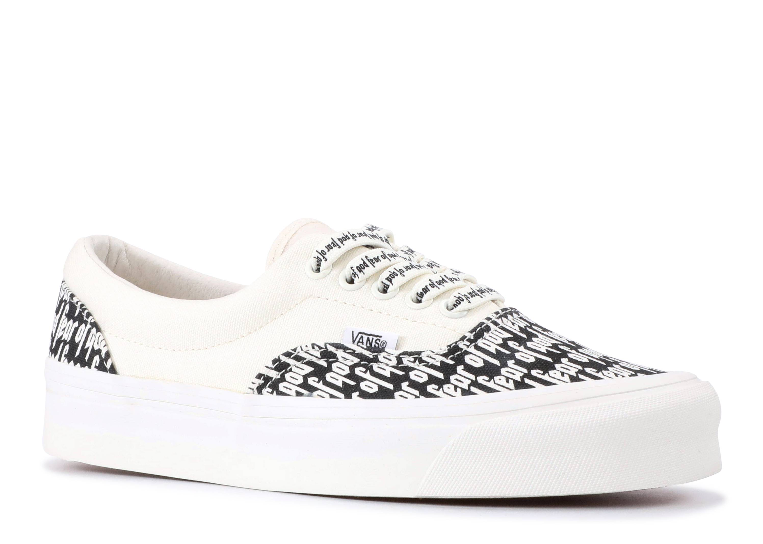 Fear Of God X Era 95 DX 'Collection 2 White' - Vans - VN0A3MQ5PZP -  marshmallow/black/print | Flight Club