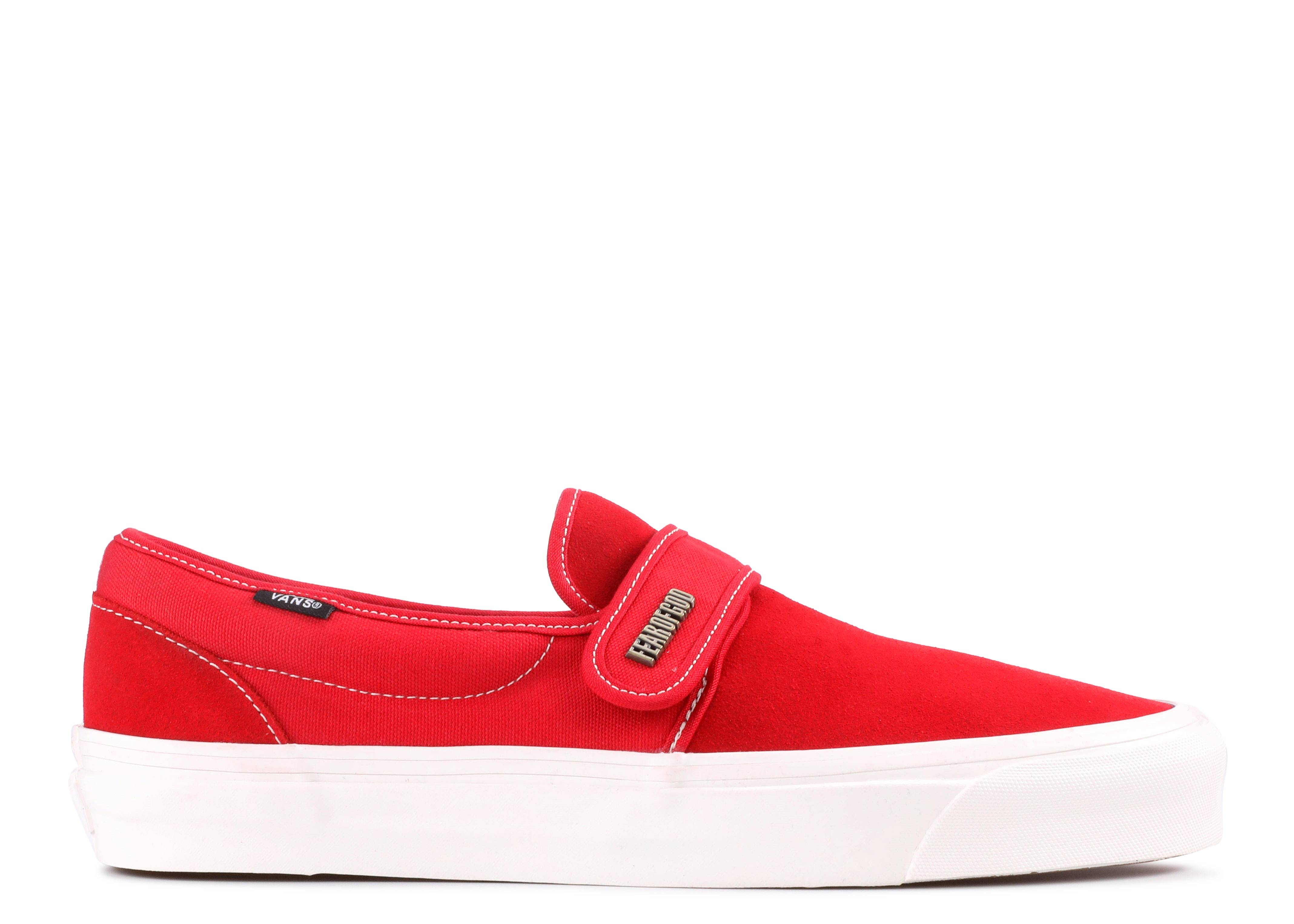 Vans x Fear Of God Slip On 47 Red Size US 11.5 EUR 45 UK 10.5