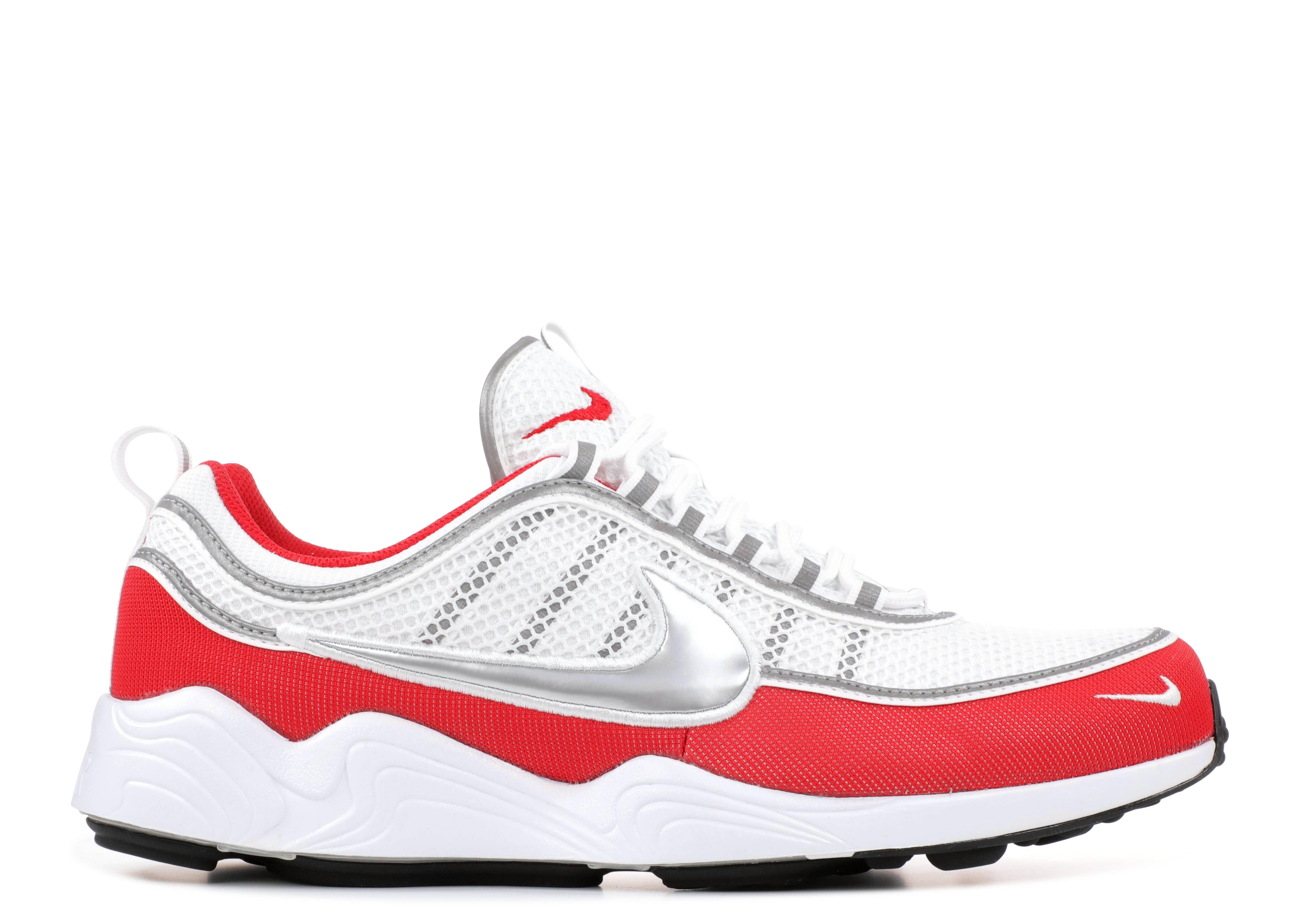 Nike Zoom Spiridon Ultra OG Metallic Silver Red Shoe Green