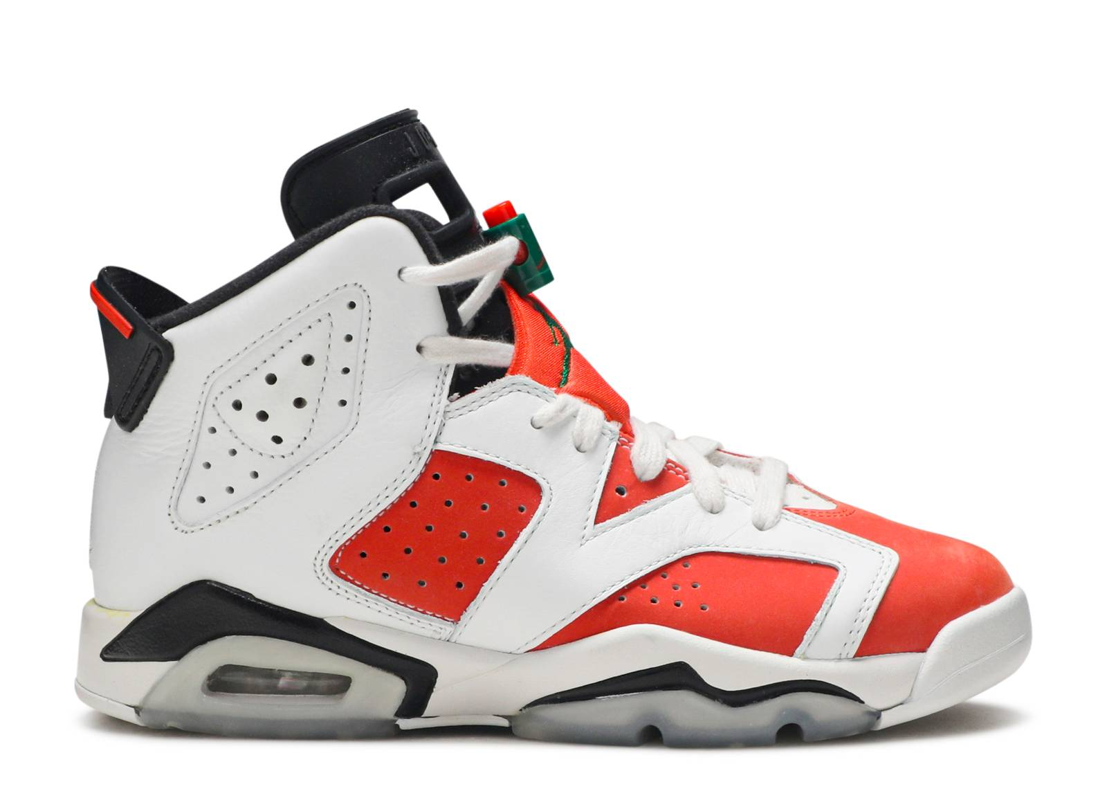 air jordan 6 retro bg summit white\/team orange-black blanc sommet\/equipe orange