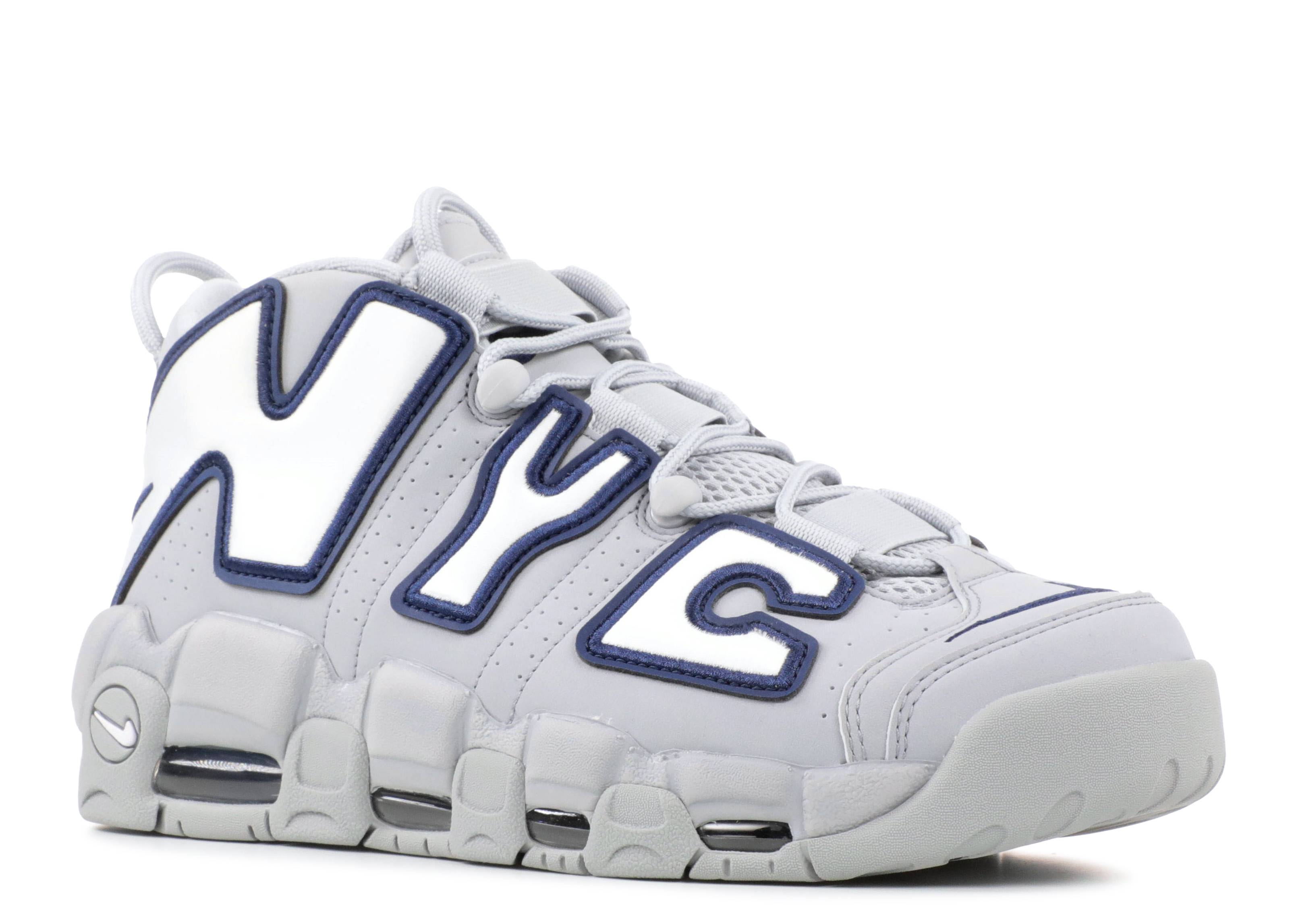 save off 1e574 31c2c Air More Uptempo Nyc Qs Navy Midnight White Wolf Grey AJ3137-001 Nike Air  Max ...