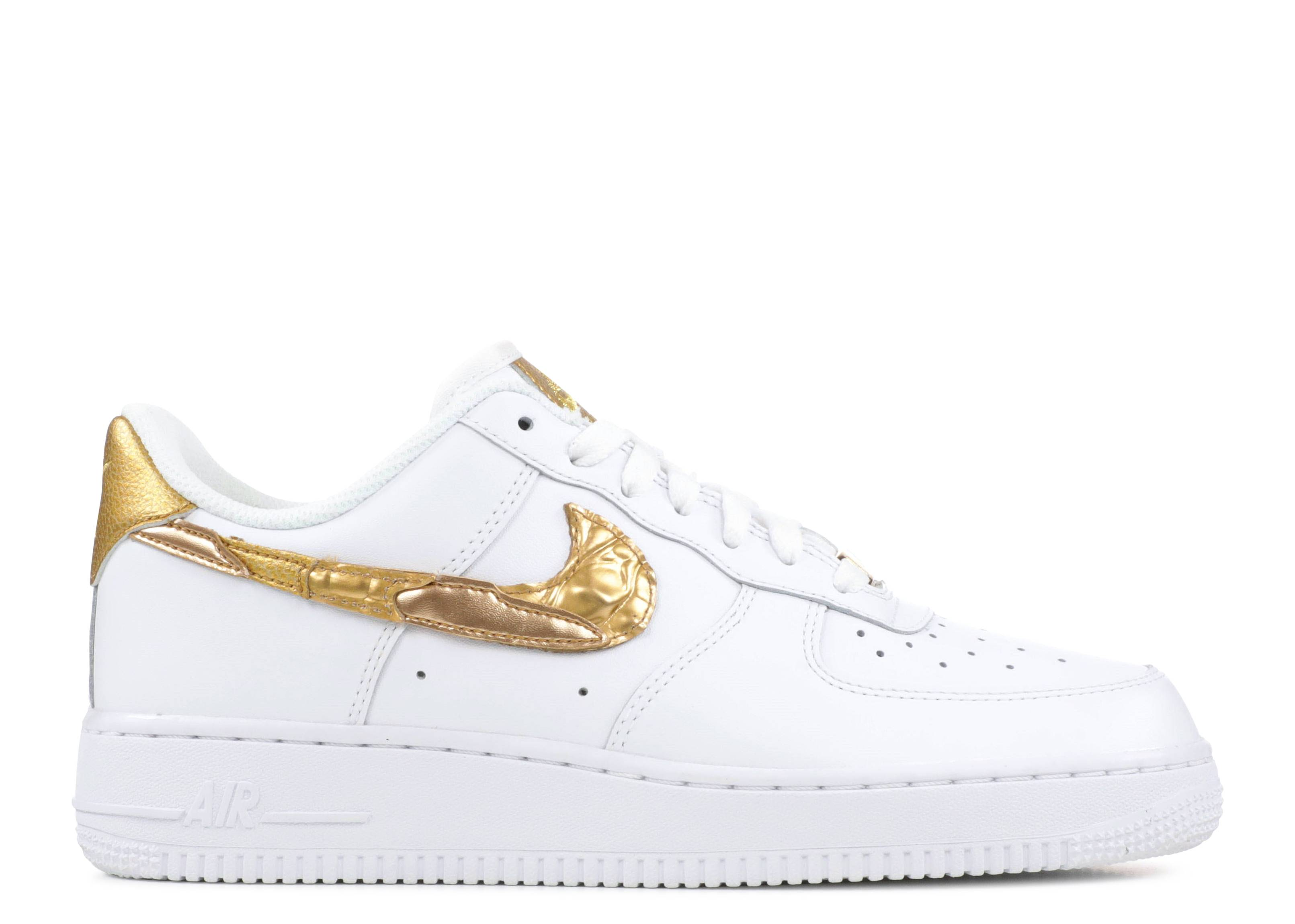 Desaparecido interior Hacia fuera  CR7 X Air Force 1 Low 'Golden Patchwork' - Nike - AQ0666 100 - white/gold |  Flight Club