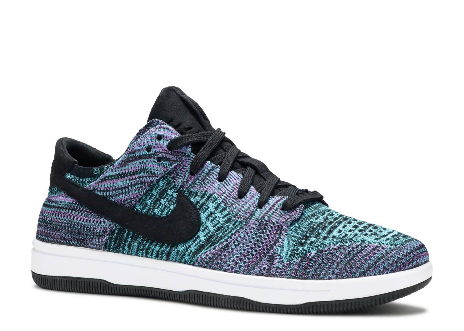 Dunk Flyknit - Nike - 917746 005 - black bright violet white chlorine blue   bcc5320c47e8