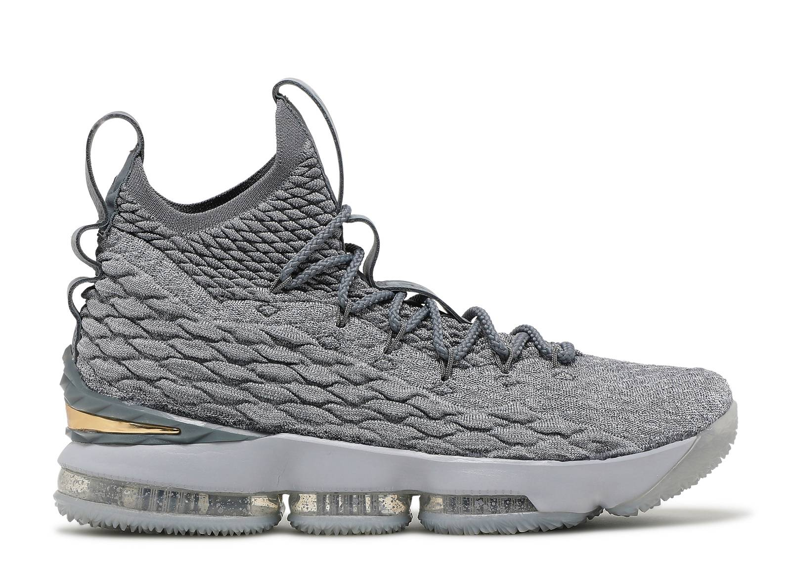 Lebron 15 - Nike - 897648 005 - wolf grey metallic gold  1478c7637
