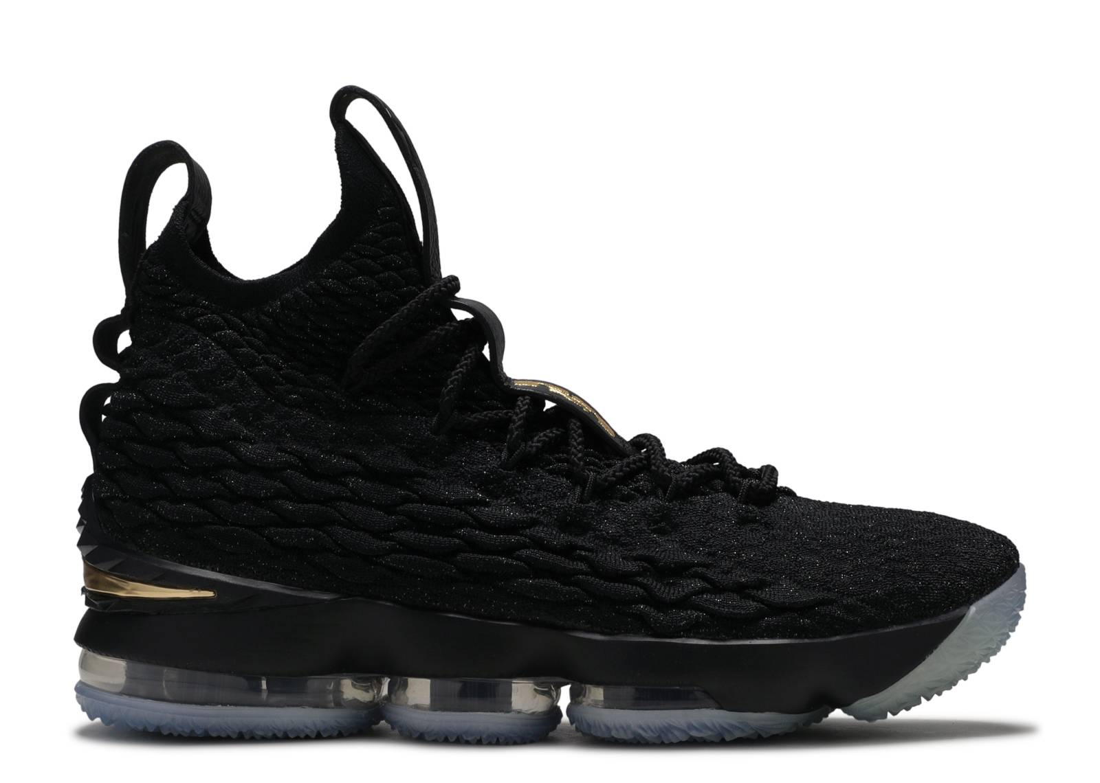 Lebron 15 - Nike - 897648 006 - blackmetallic gold-black  Fl