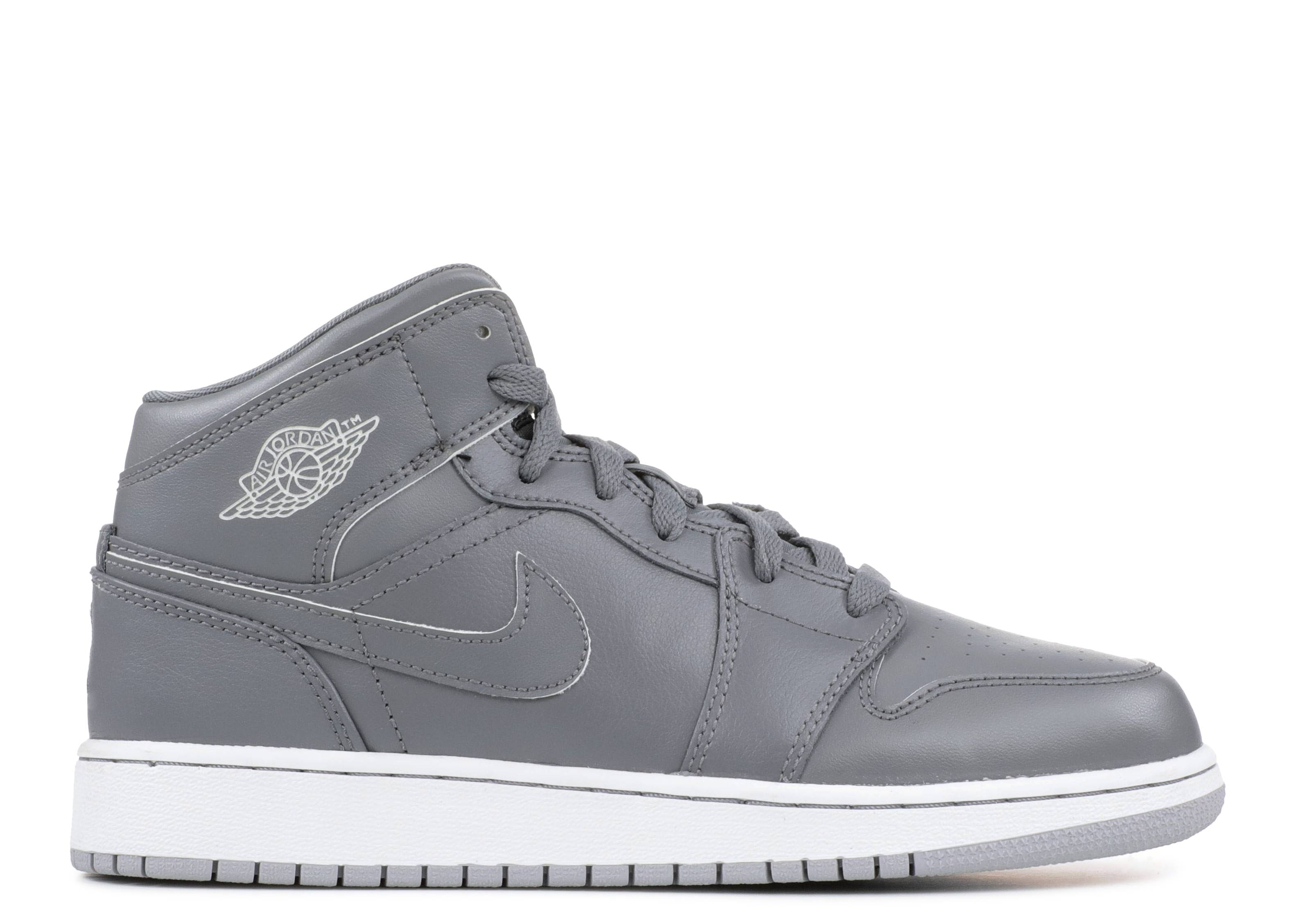 "air jordan 1 mid bg ""Cool Grey Wolf Grey"""