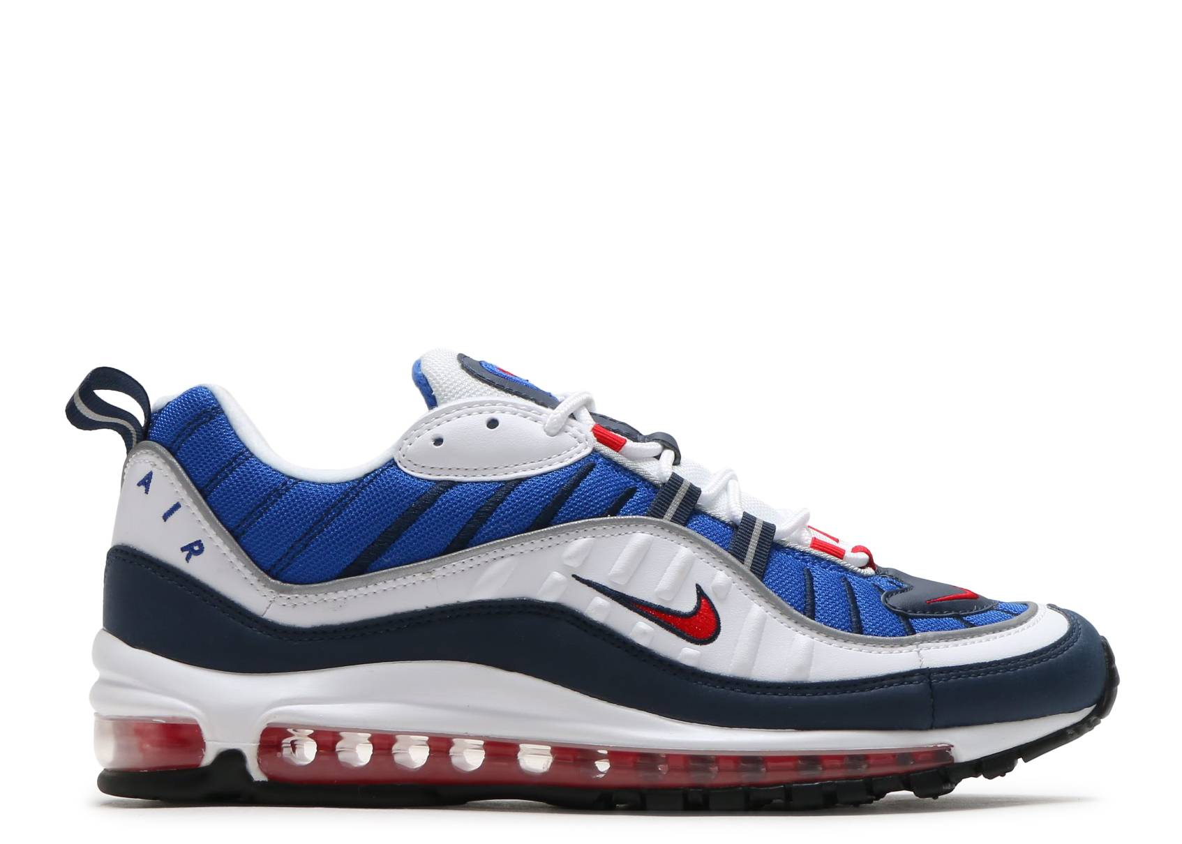 Inclinado Shipley entregar  Air Max 98 'Gundam' - Nike - 640744 100 - white/university red-obsidian |  Flight Club