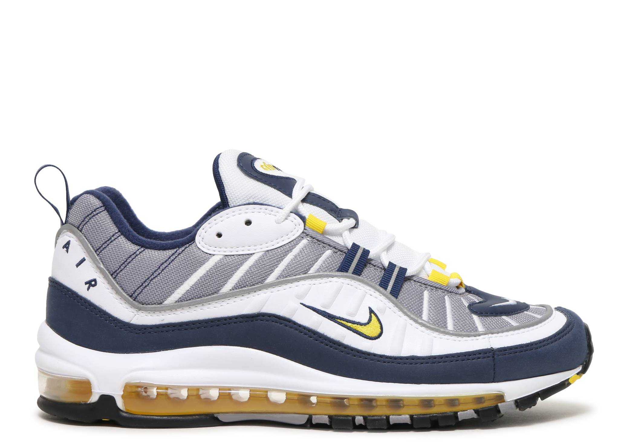 76b78120981 AIr Max 98 - Nike - 640744 105 - white tour yellow-midnight navy ...