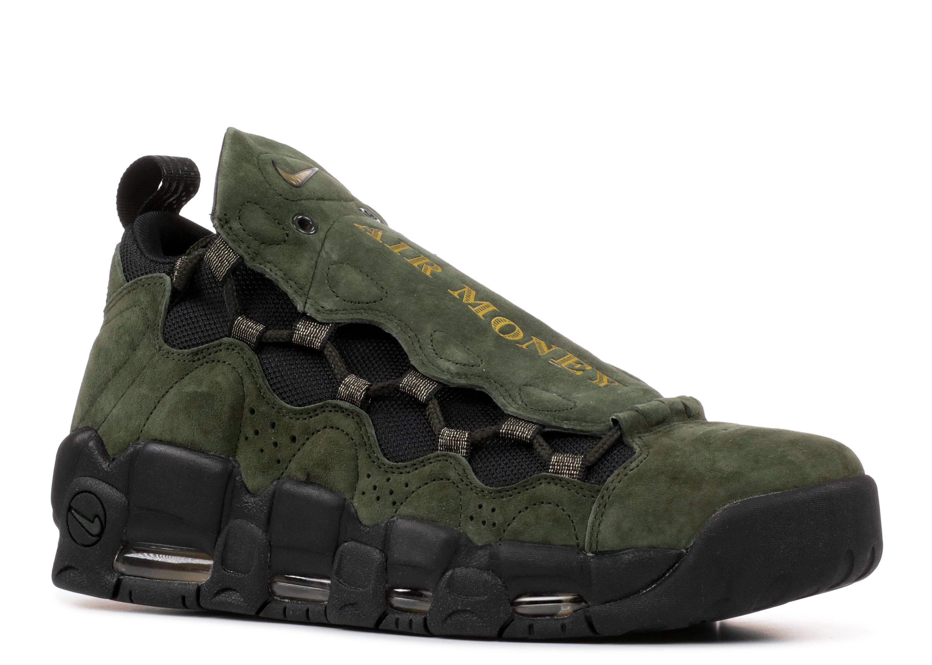 Air More Money Qs - Nike - aj7383 300 - sequoia metallic gold-black ... 7ff47989d