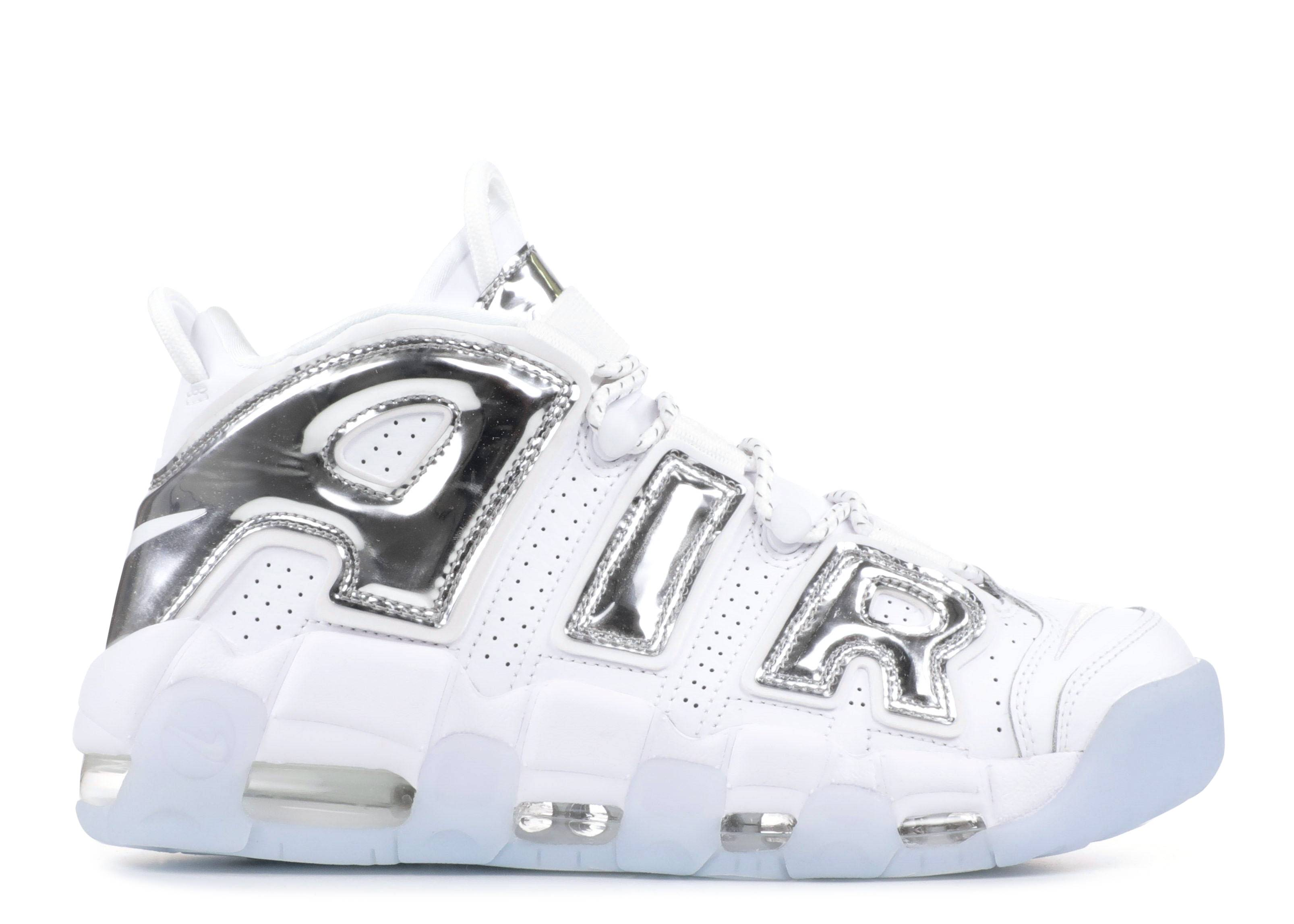 c24edecc7456e Wmns Air More Uptempo - Nike - 917593 100 - white chrome-blue tint ...