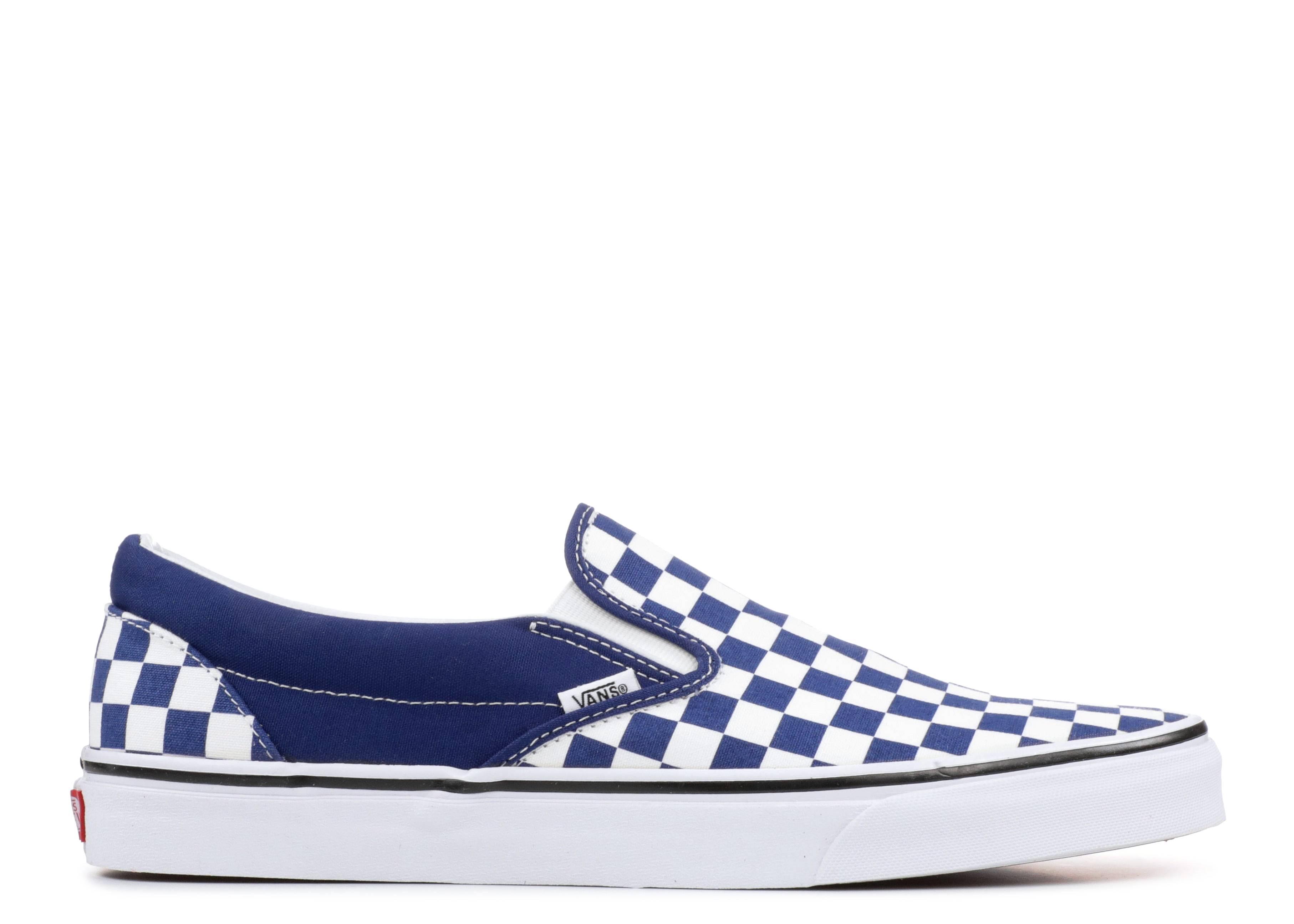 vans checkerboard blu
