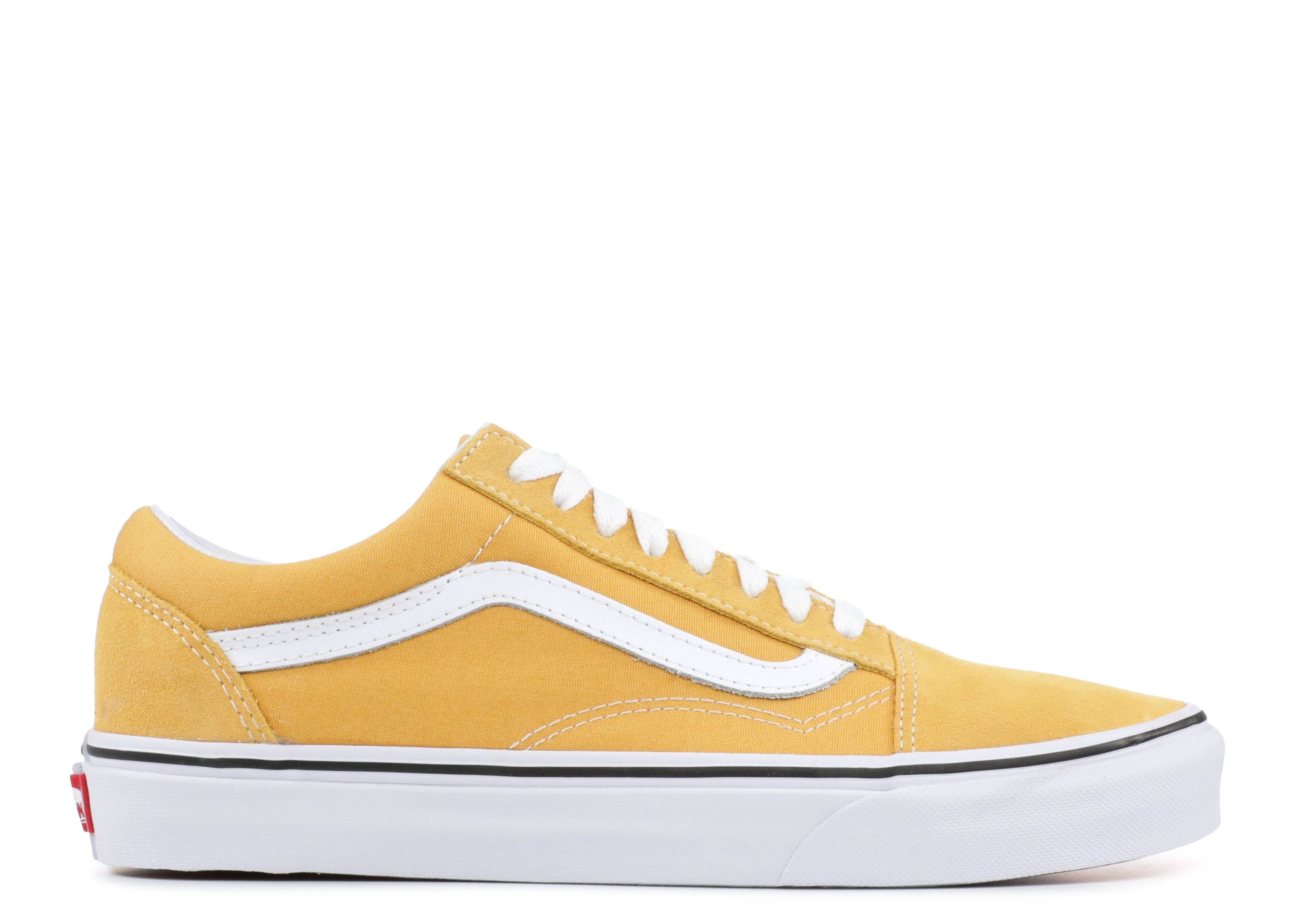 UA OLD SKOOL - Sneaker low - ochre/true white