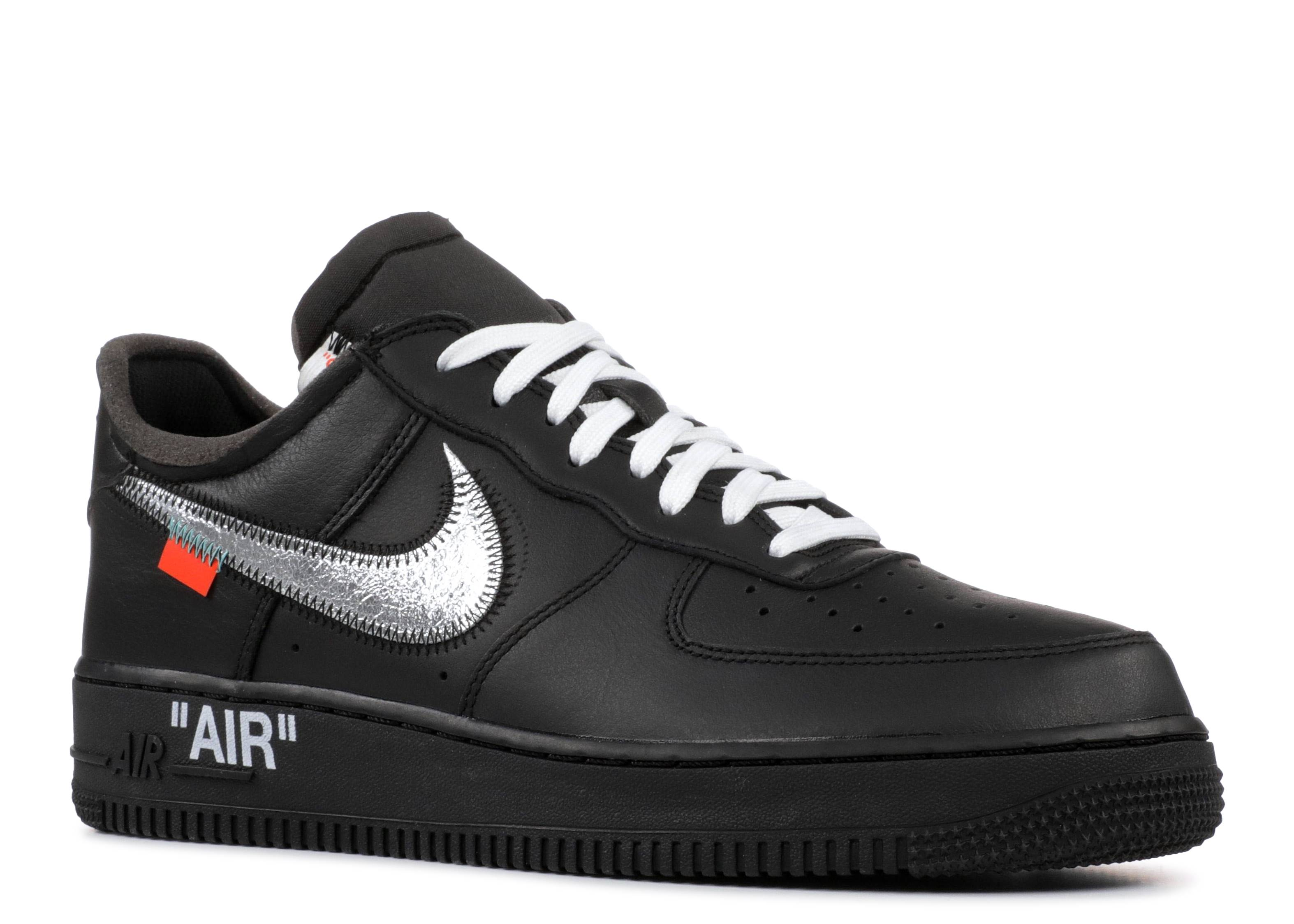 Viaje Sermón eximir  Off White X Air Force 1 Low '07 'MoMA' - Nike - AV5210 001 - black/metallic  silver-black | Flight Club