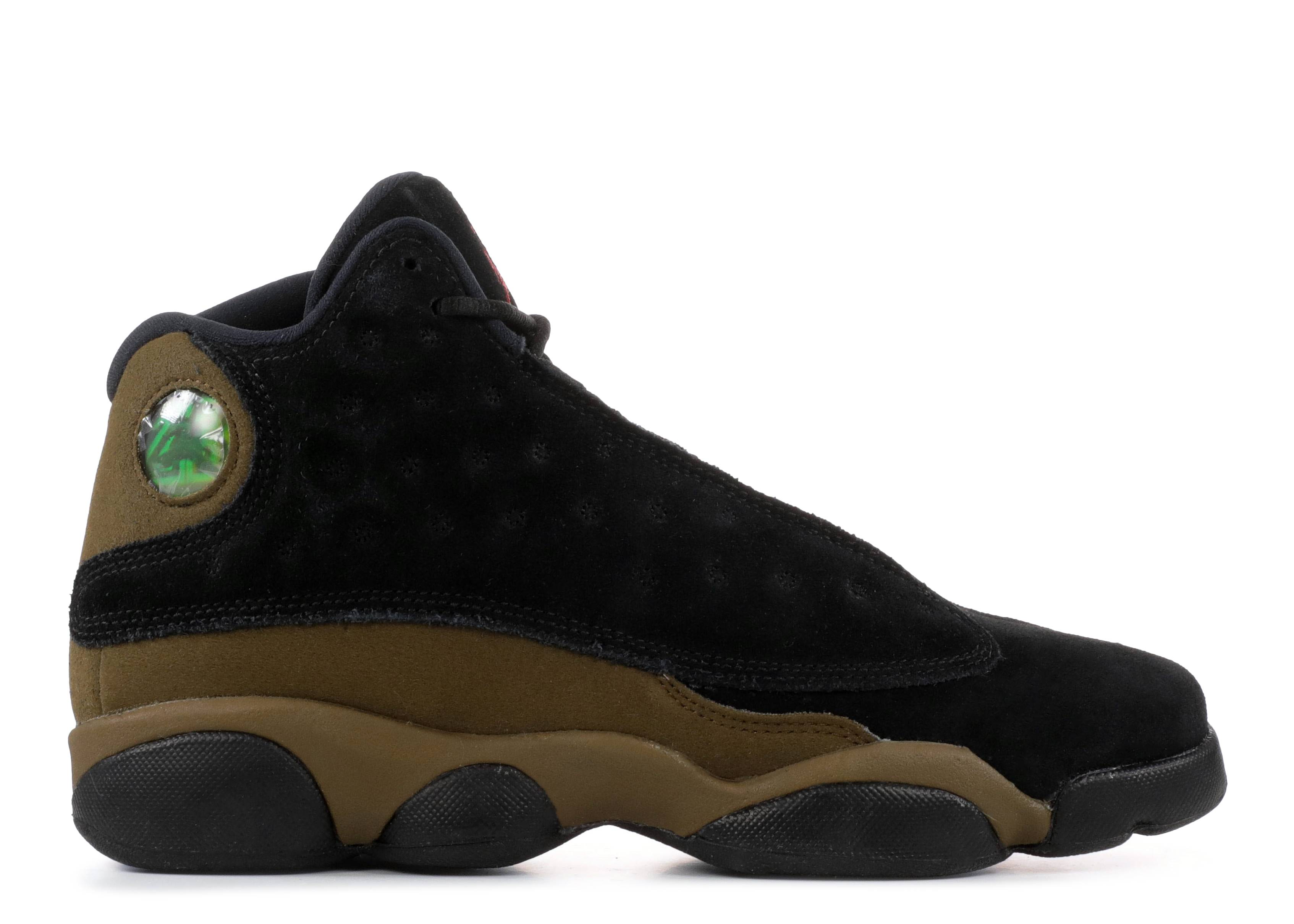 "air jordan 13 retro bg (gs) ""olive"""