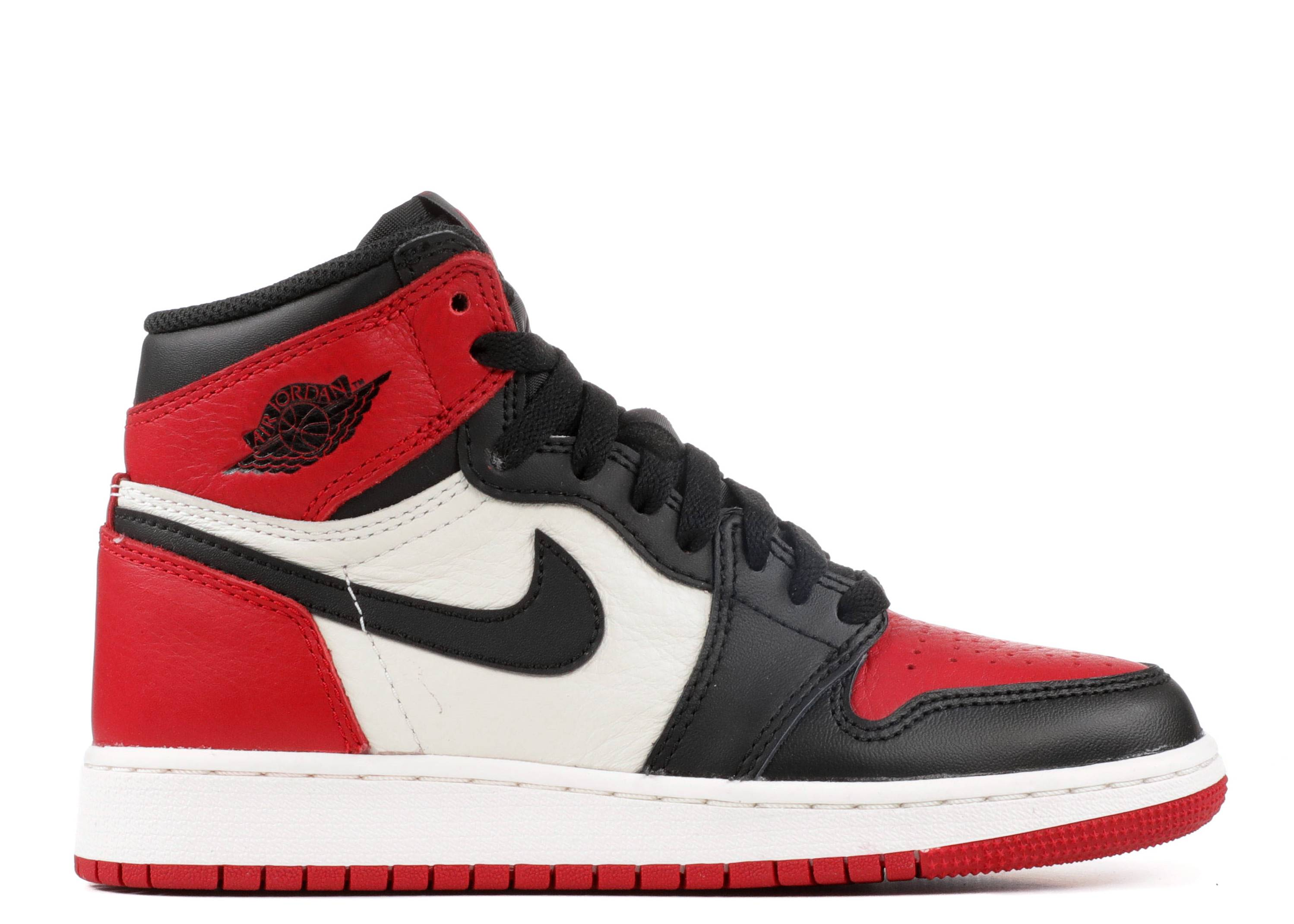 "air Jordan 1 retro high og bg (gs) ""bred toe"""