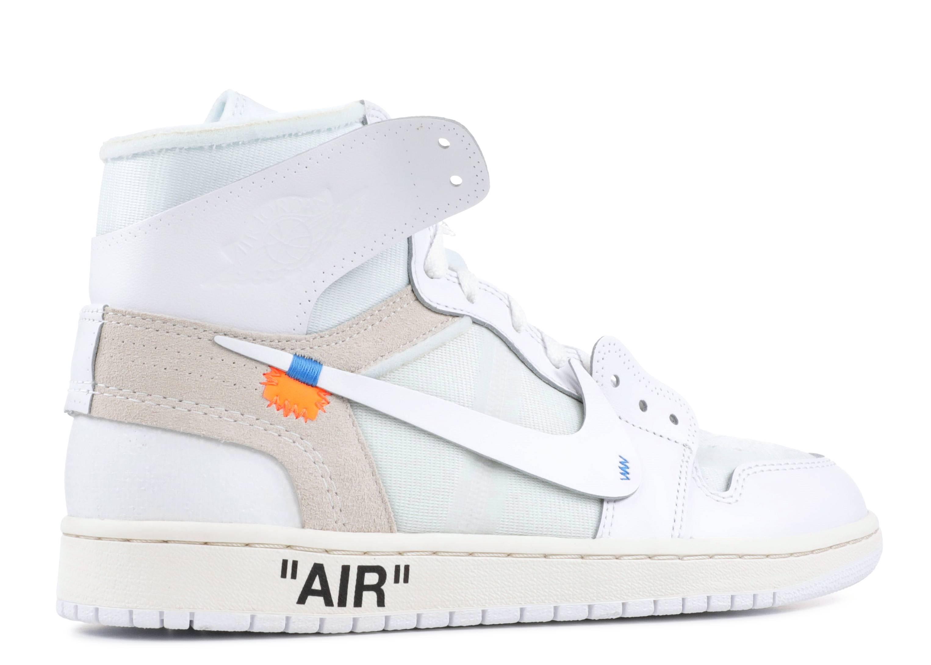 exposición Sierra uno  Off White X Air Jordan 1 Retro High OG 'White' 2018 - Air Jordan - AQ0818  100 - white/white   Flight Club