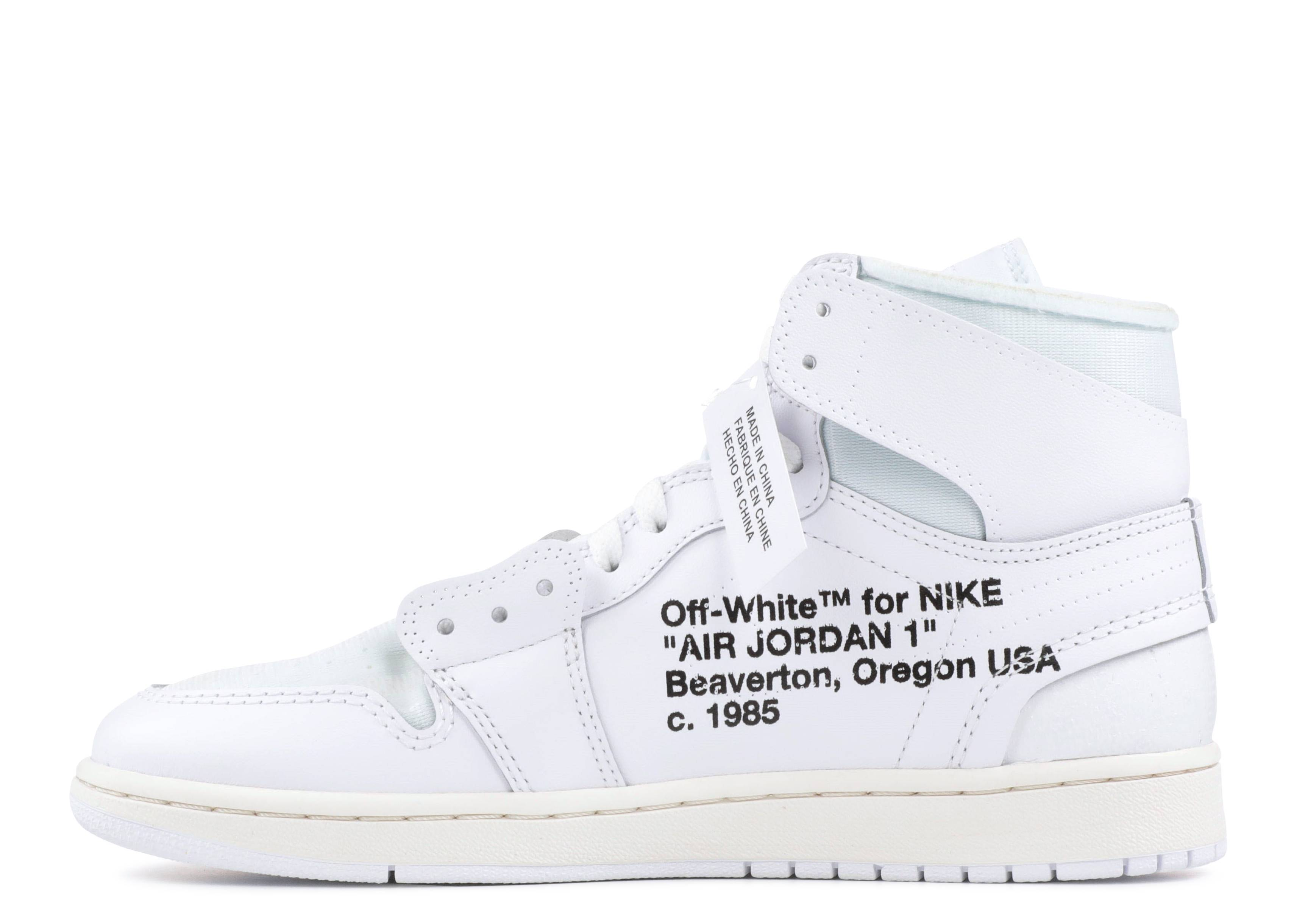 white air jordan 1 off white