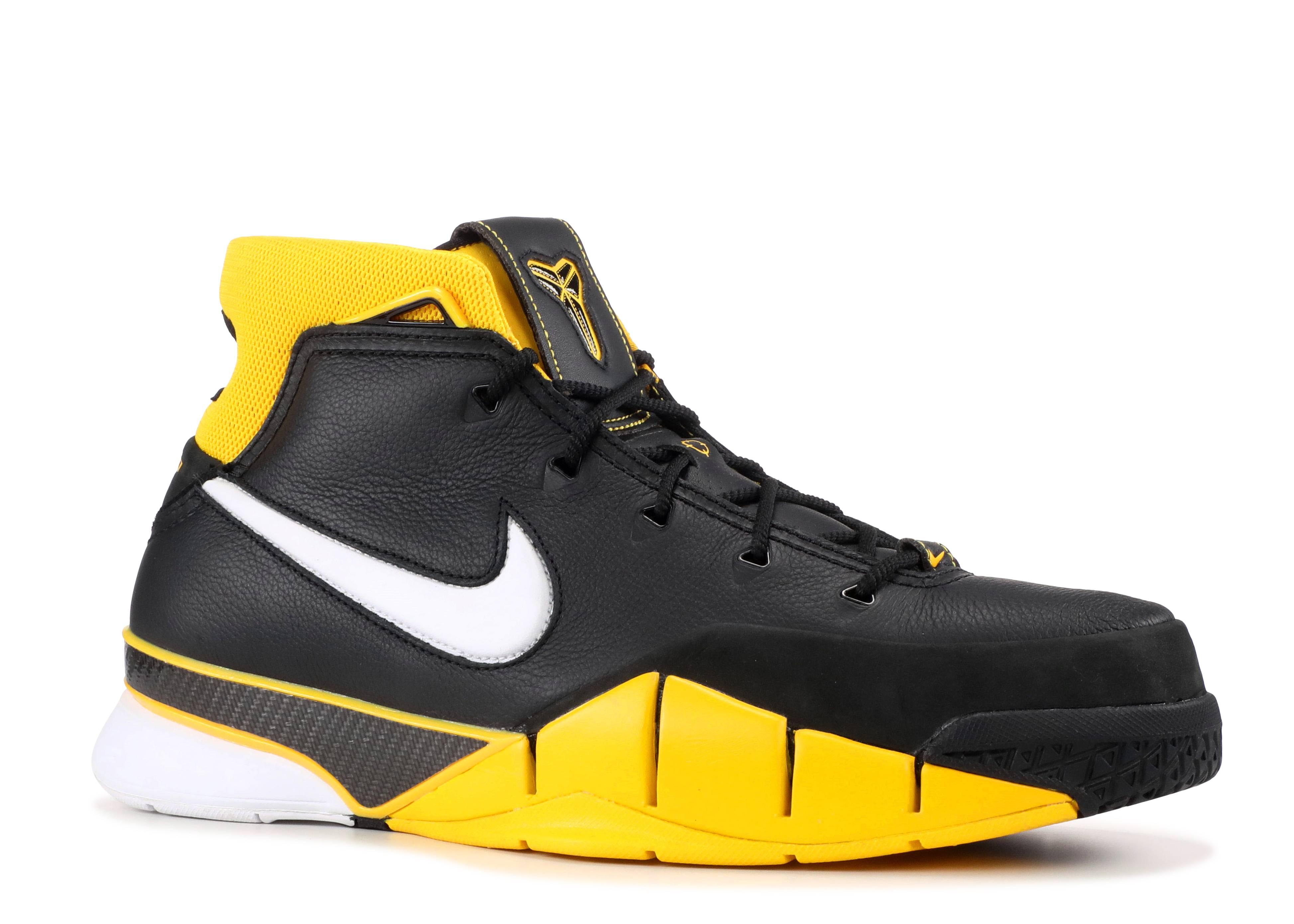 Kobe 1 Protro - Nike - AQ2728 003 - black.white-varsity maize ... a9c3abd156