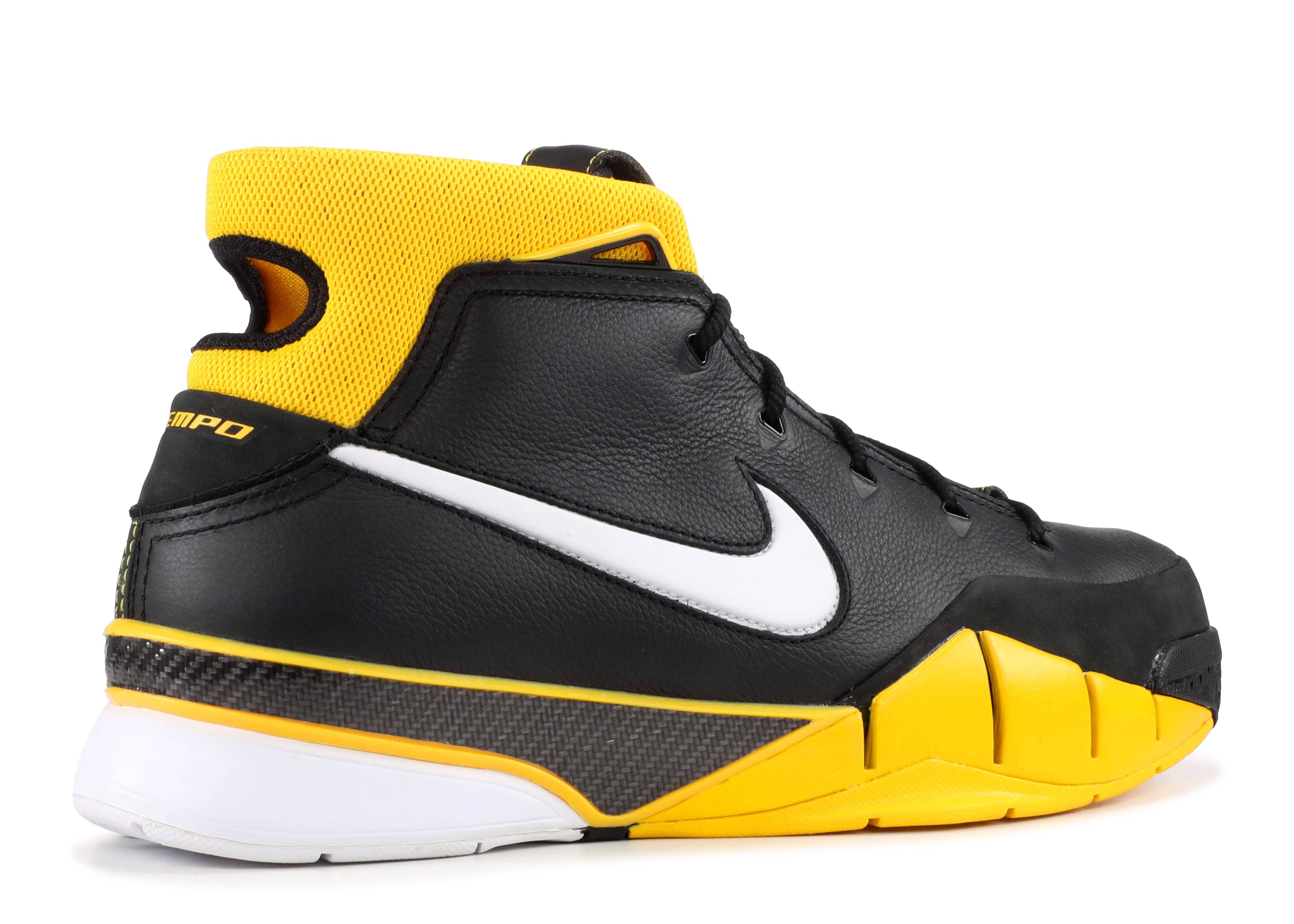 ba26197e38b Kobe 1 Protro - Nike - AQ2728 003 - black.white-varsity maize ...