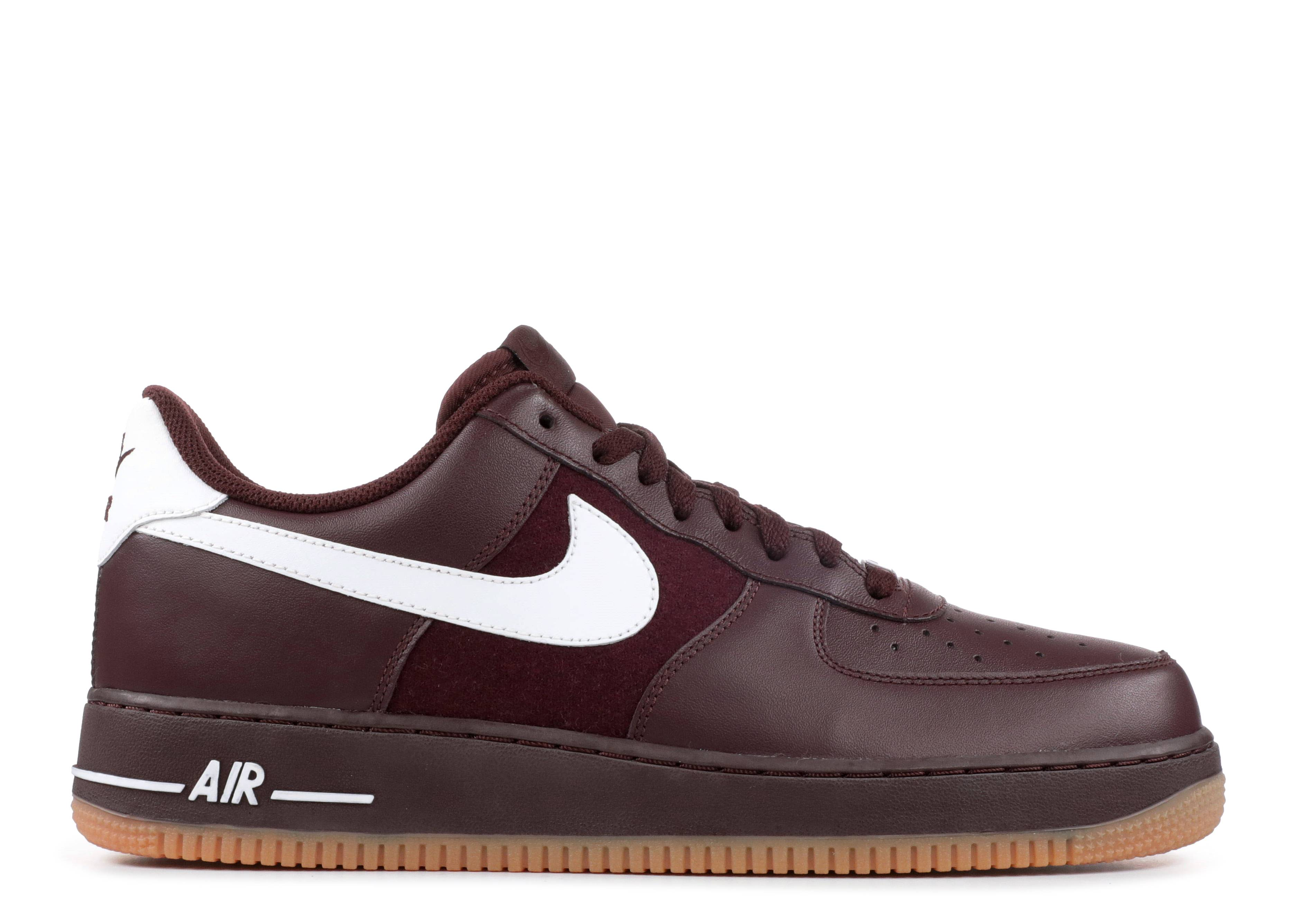 Air Force 1 '07 Nike 315122 610 deep burgundywhite gm md brwn | Flight Club