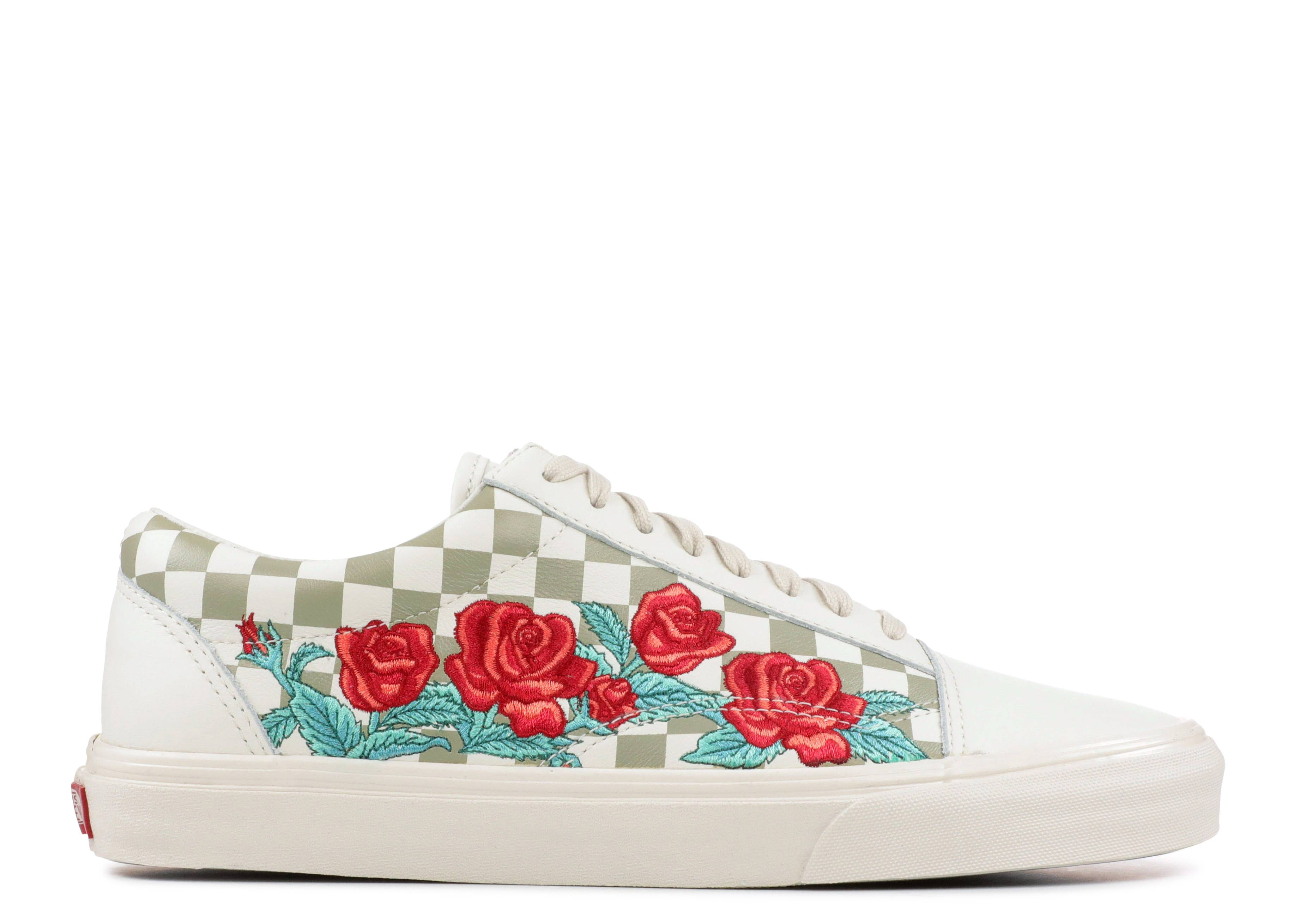 Vans Old Skool DX rose embroidered sneakers JJY5puOu7