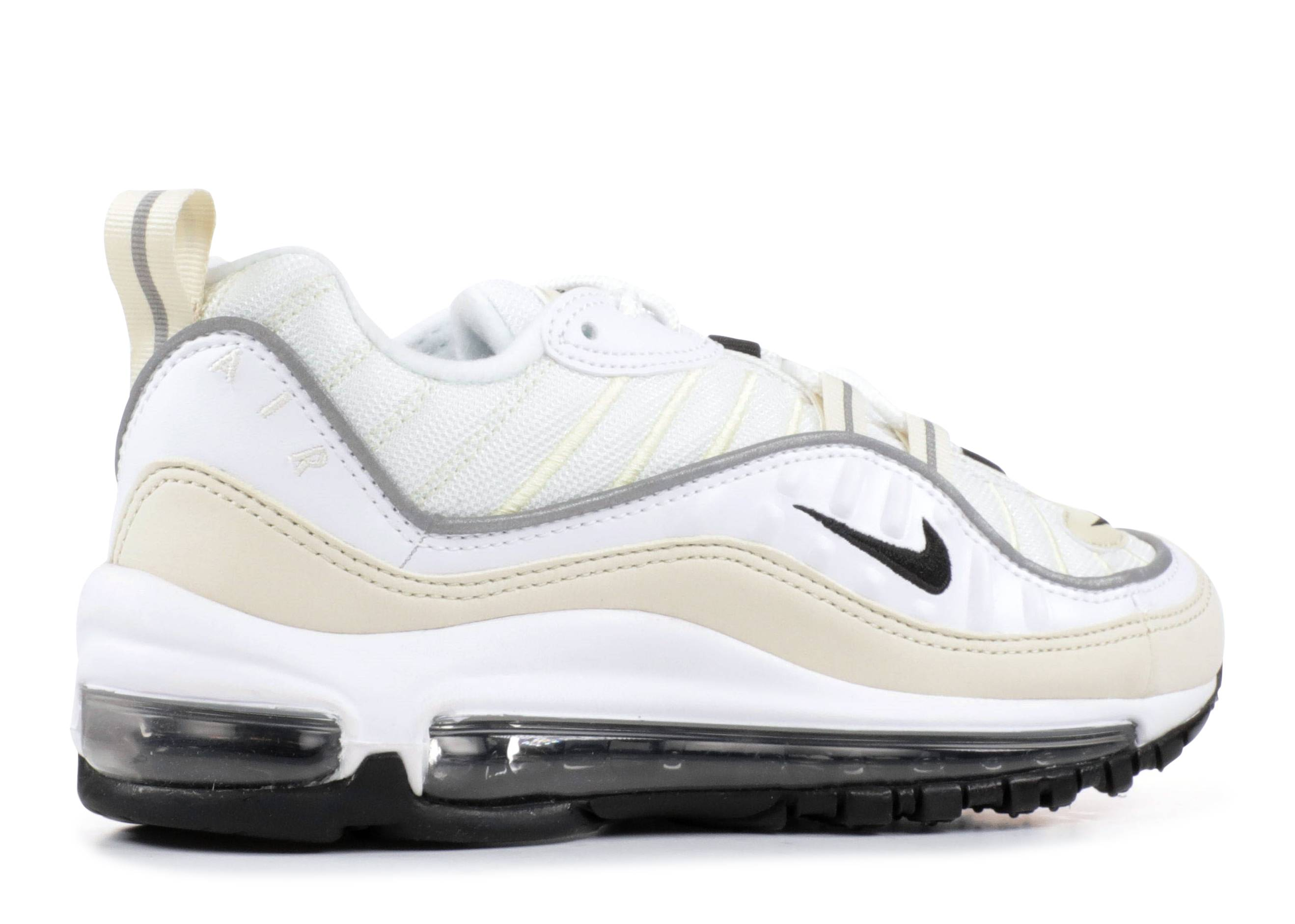Nike Womens Air Max 98 White Fossil Reflect Silver Black Ah6799 102 Size 10.5