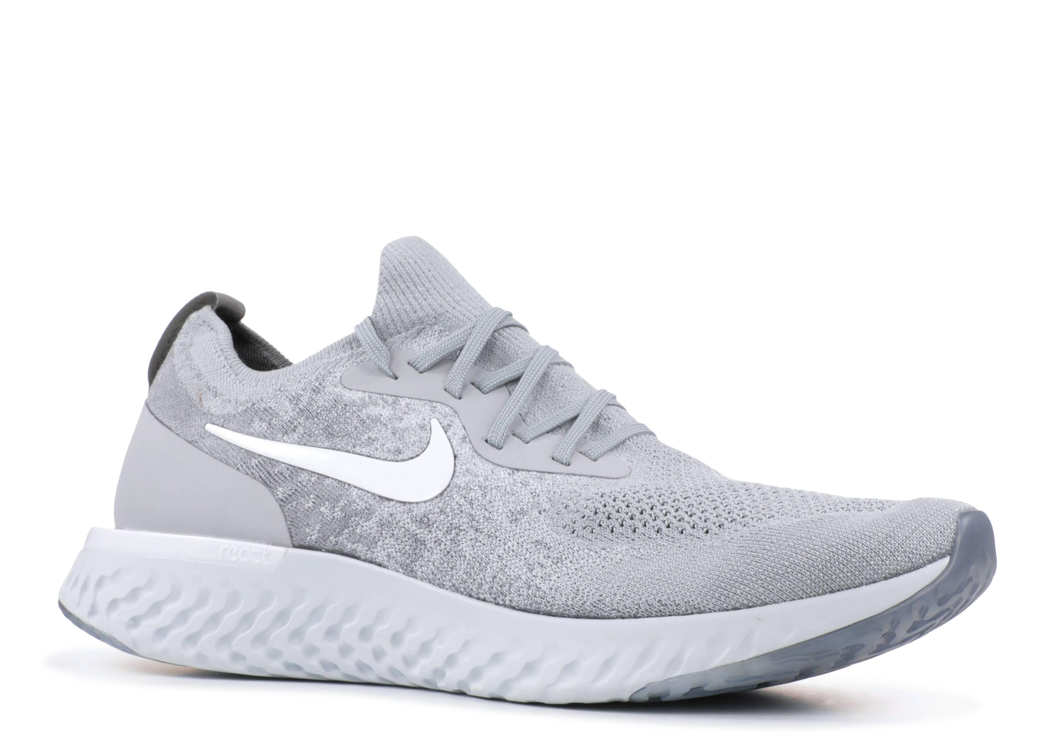 000d7fa3f3a Nike Epic React Flyknit - Nike - aq0067 002 - wolf grey white-cool grey