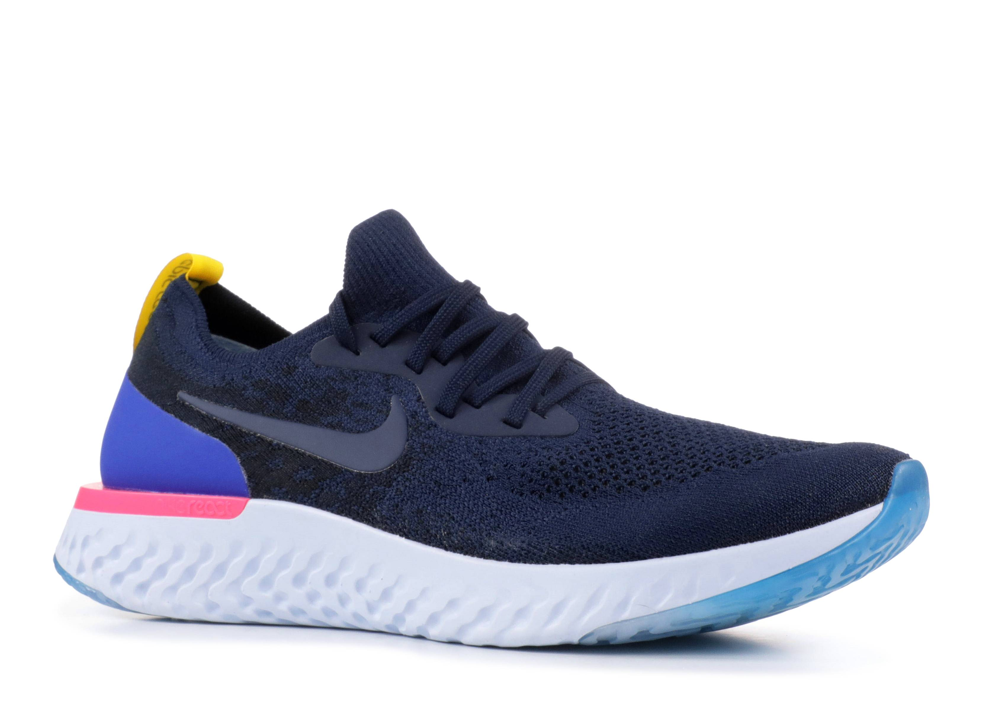5b39a666d697 Nike Epic React Flyknit - Nike - aq0067 400 - college navy college navy