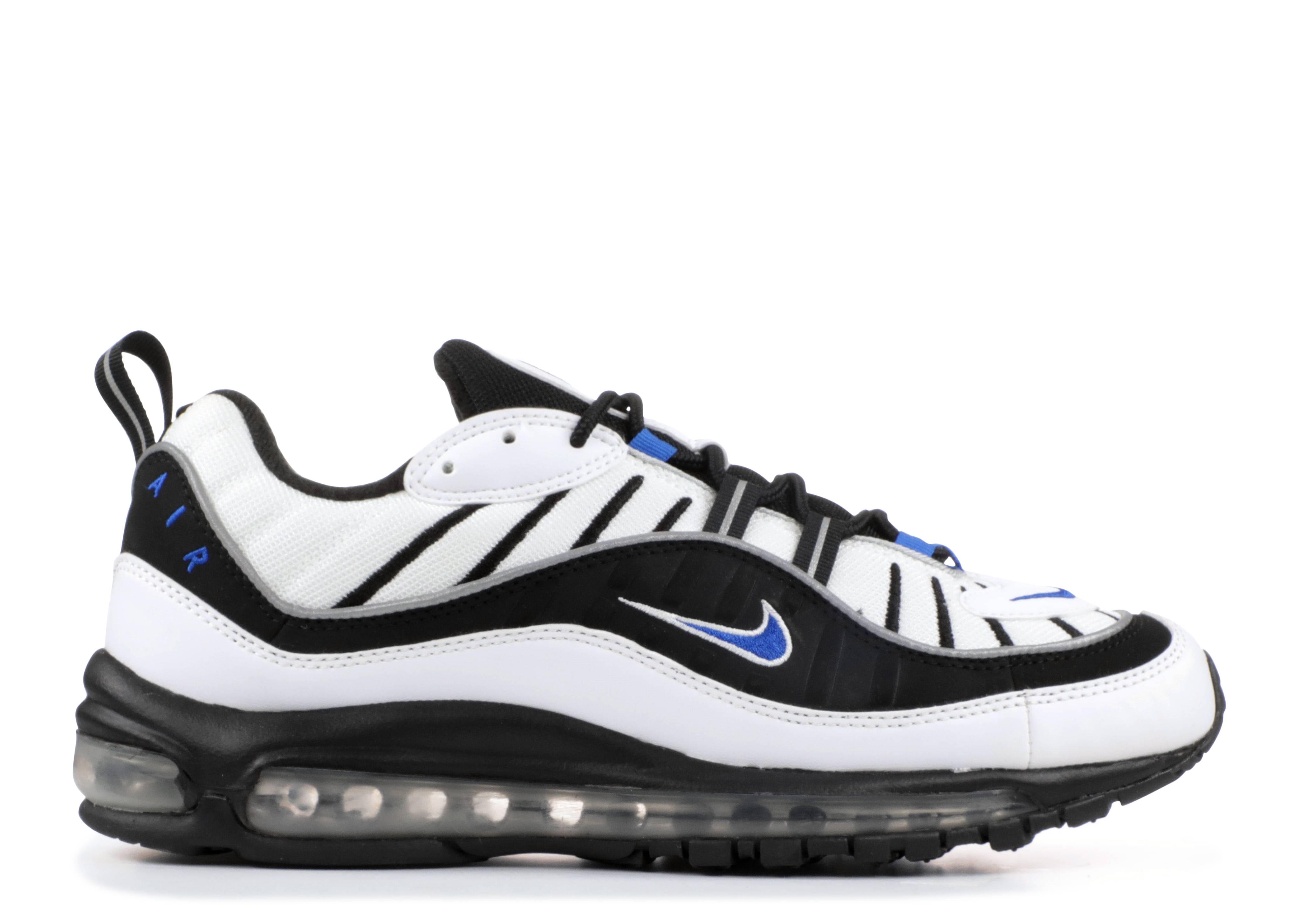 Air Max 98 - Nike - 640744 102 - white hyper cobalt-black-metallic silver  58fdbef527