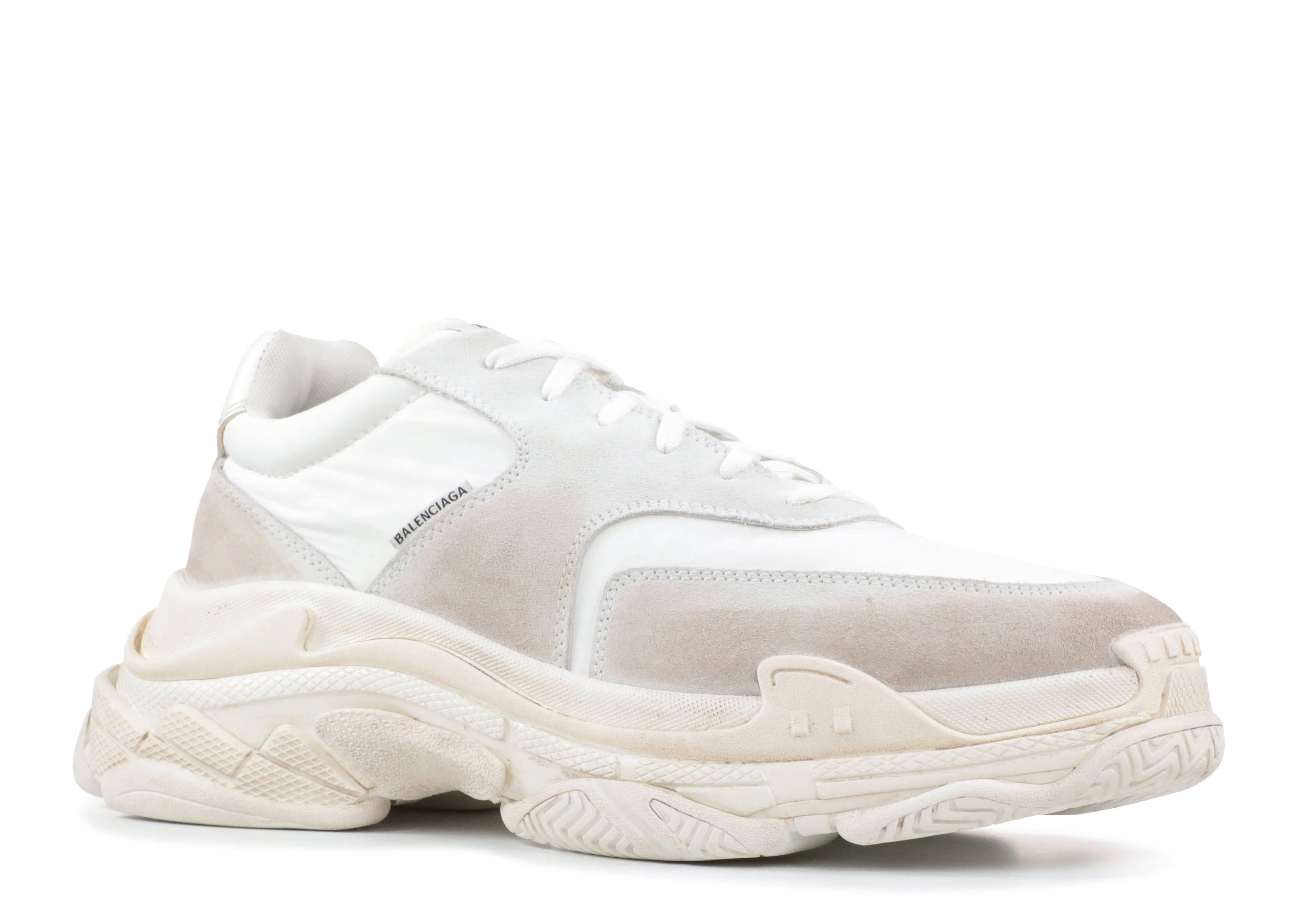 Balenciaga triple s white suede » Support