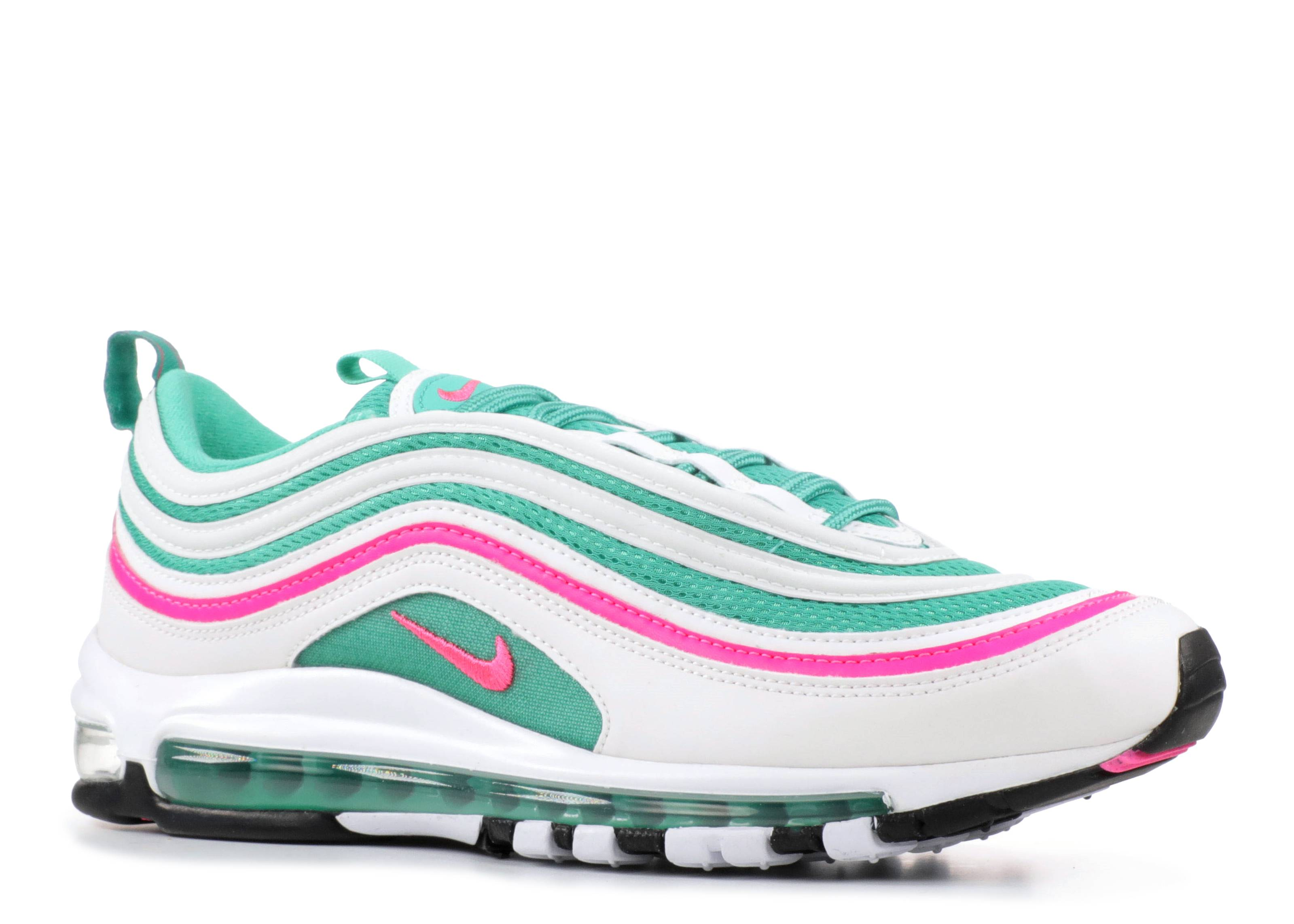 size 40 fd336 7ebbd ... switzerland nike air max 97 south beach nike 921826 102 white pink  blast kinetic green flight